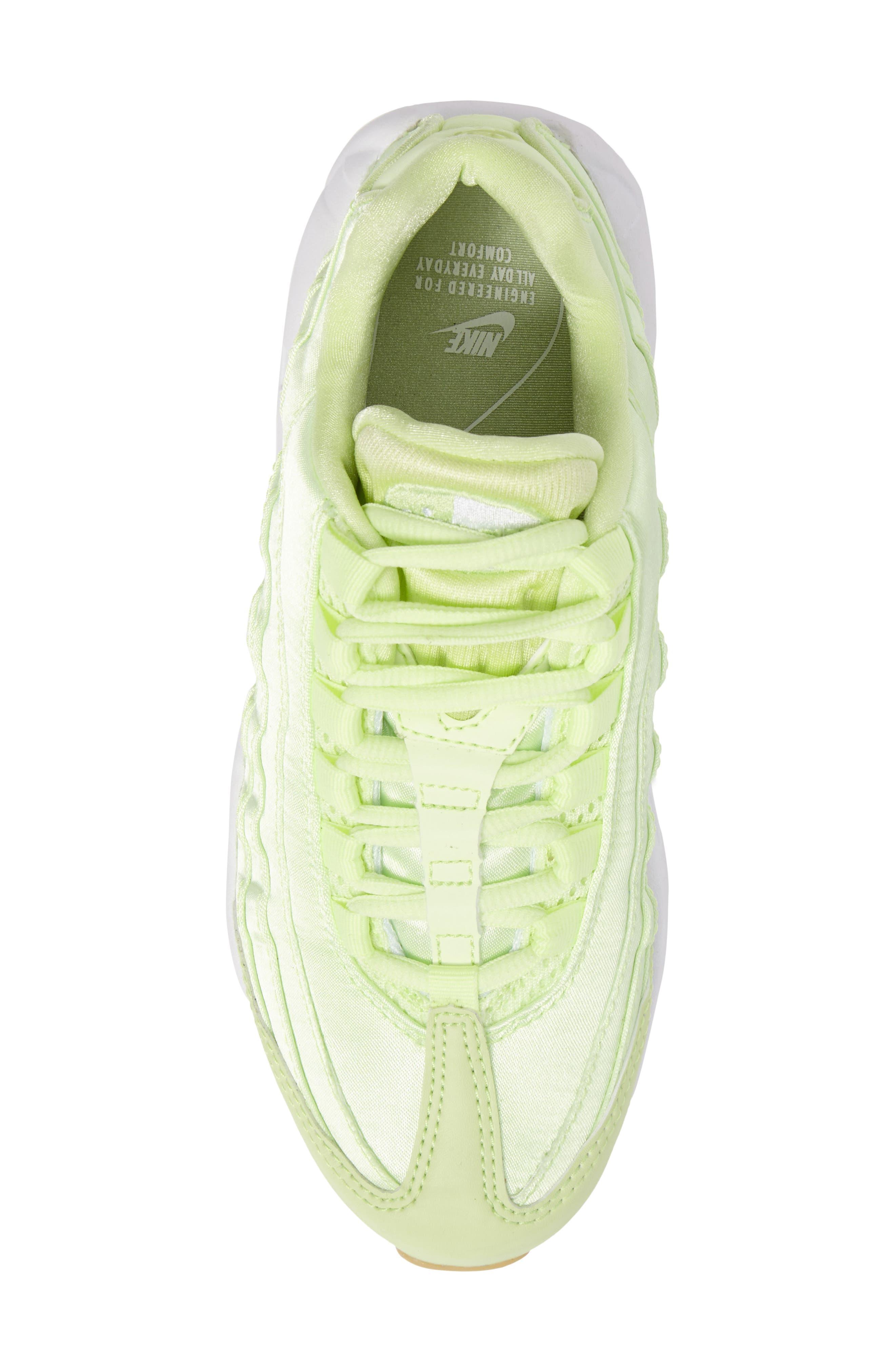 Air Max 95 QS Running Shoe,                             Alternate thumbnail 5, color,                             Liquid Lime/ Liquid Lime