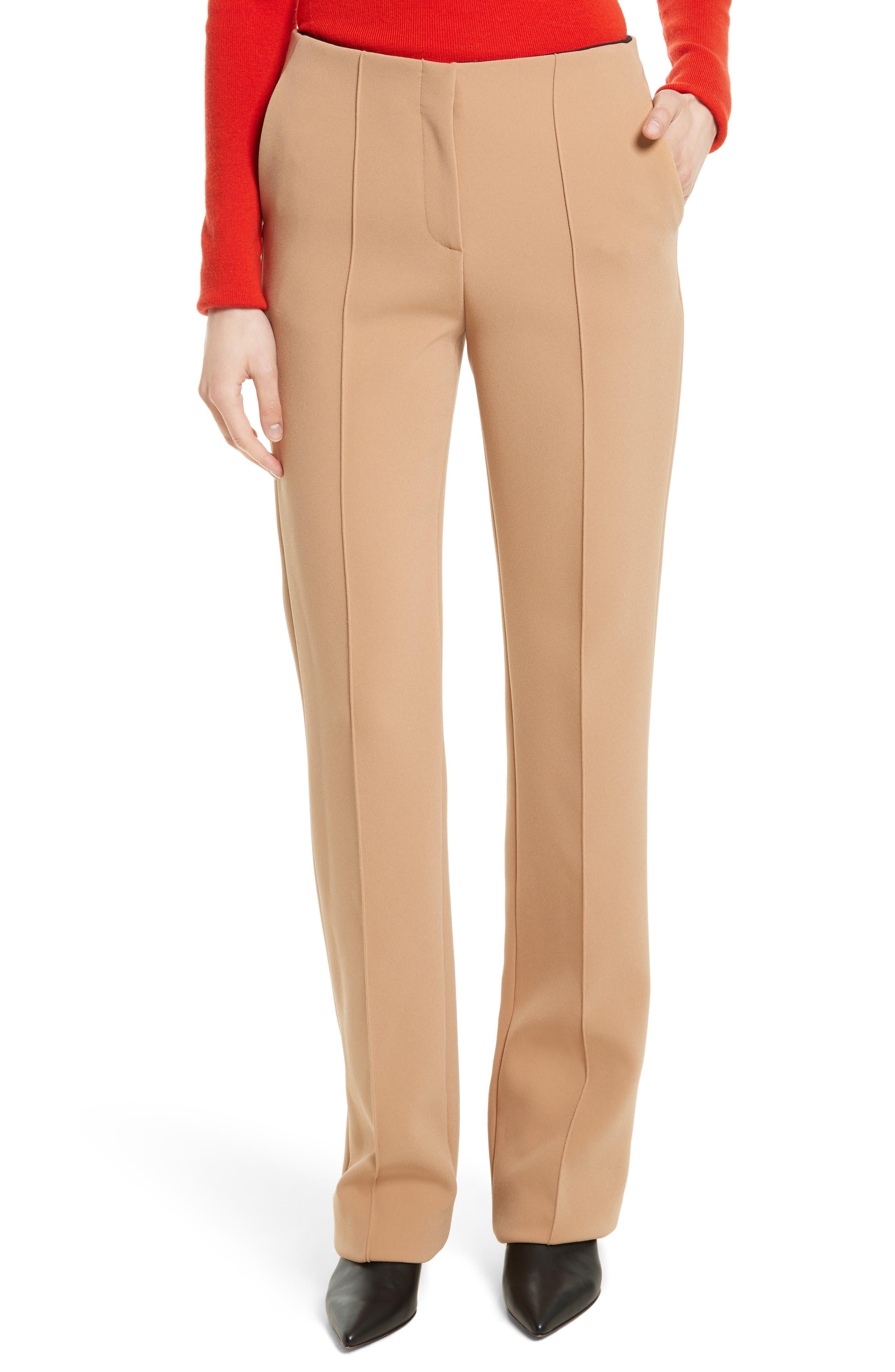 Diane von Furstenberg Pintuck Pleated Pants