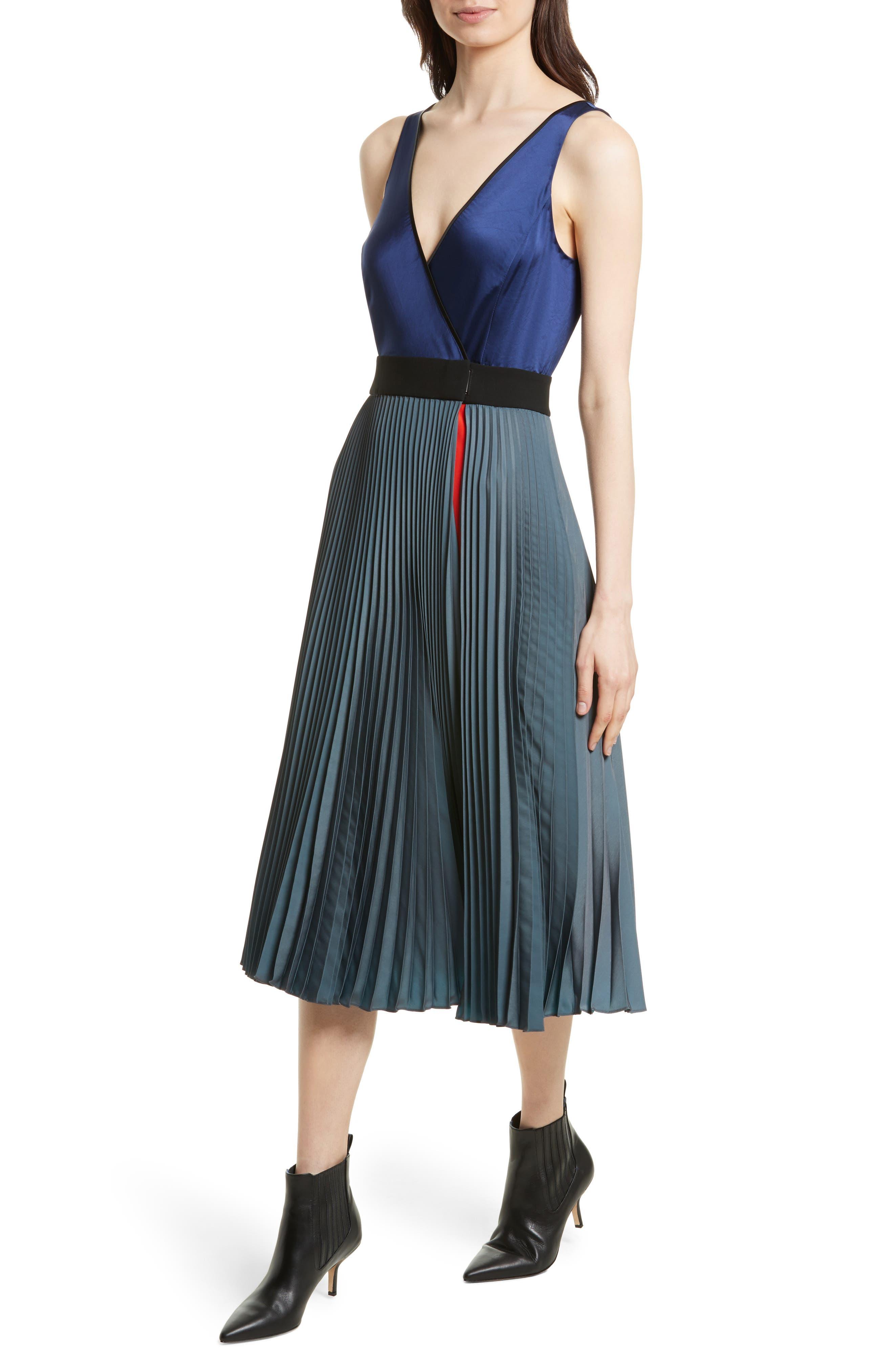 Alternate Image 4  - Diane von Furstenberg V-Neck Pleated Wrap Dress