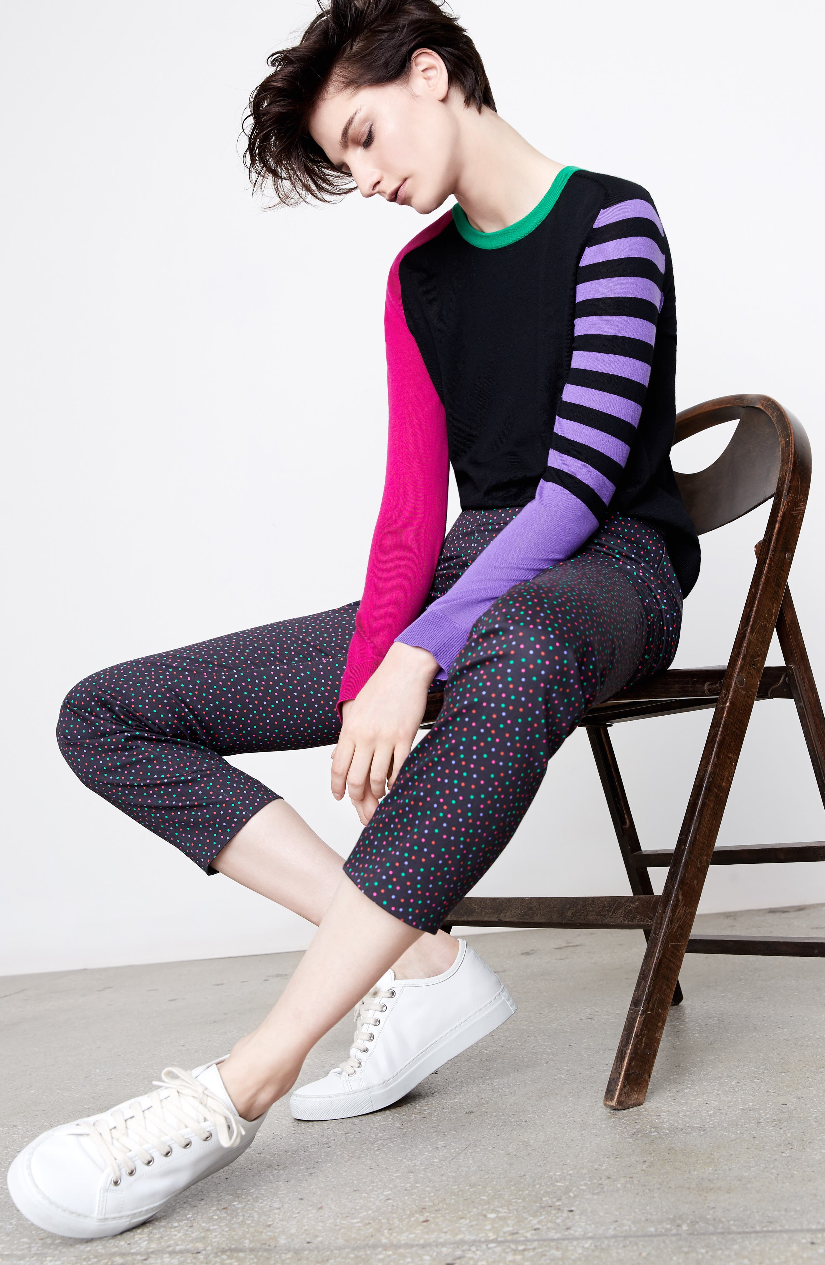 Akris punto Sweater & Pants Outfit with Accessories