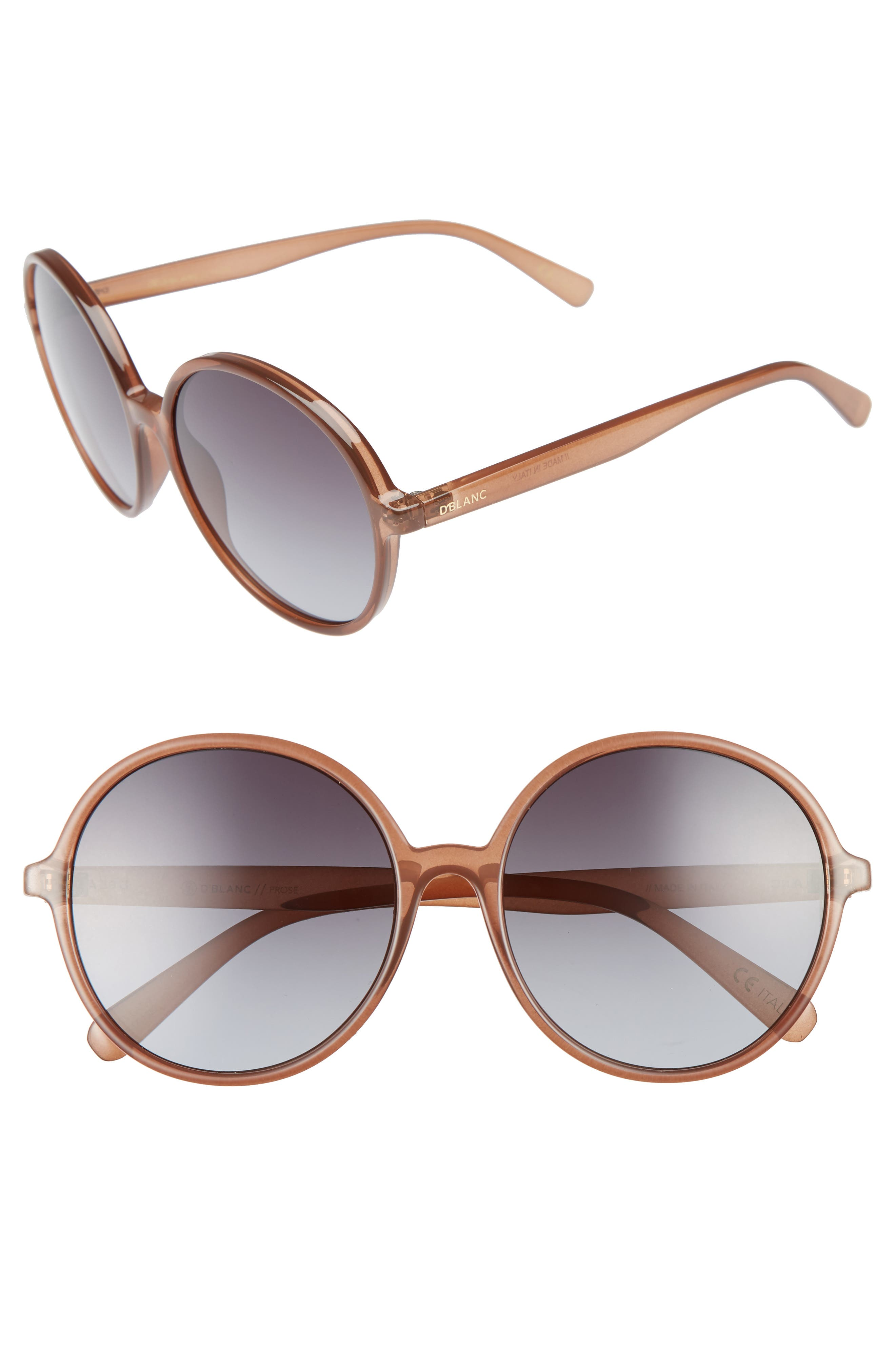 Alternate Image 1 Selected - D'BLANC Prose 59mm Round Sunglasses