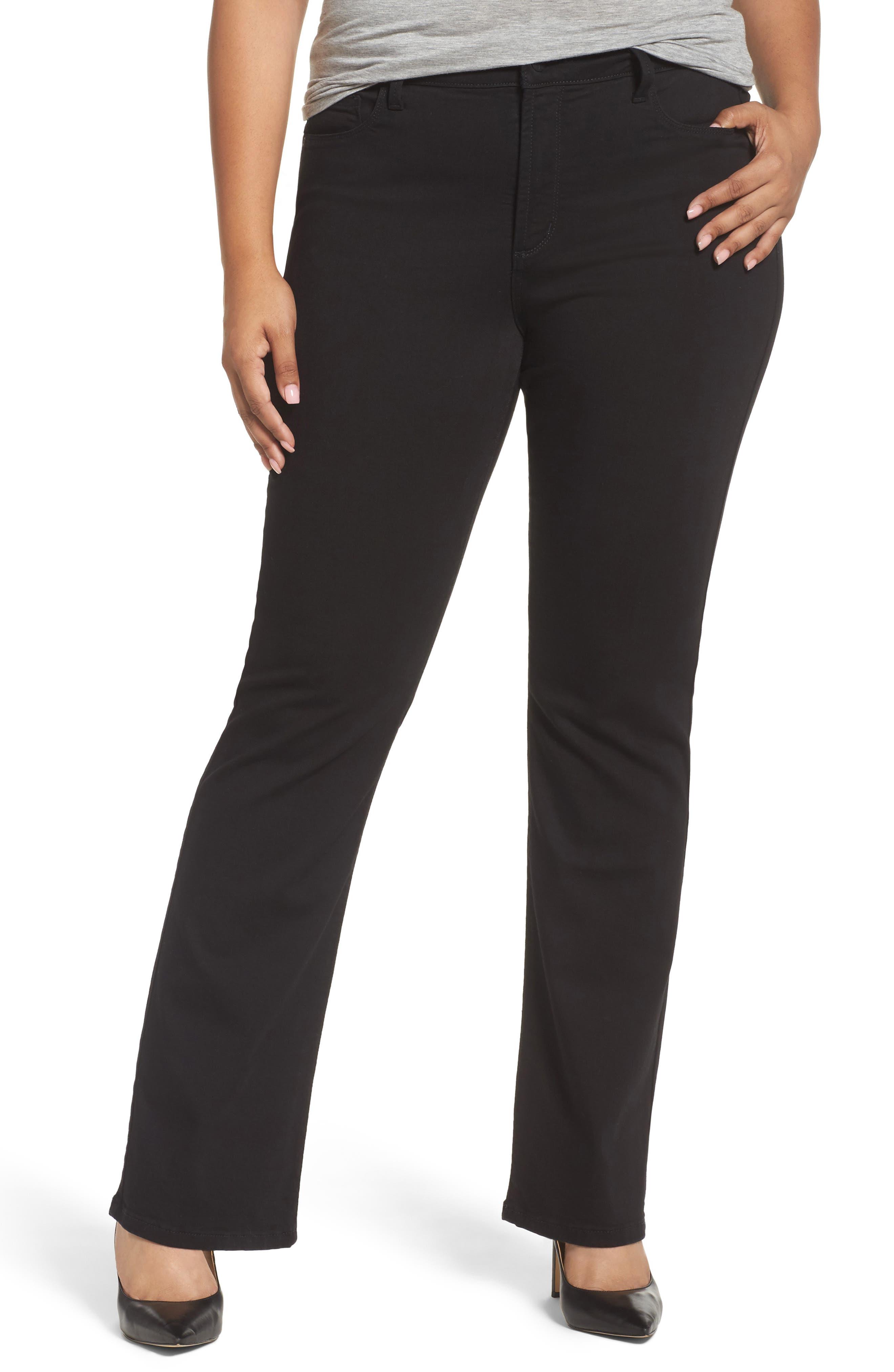 NYDJ Barbara Stretch Bootcut Stretch Twill Pants Jeans (Plus Size)