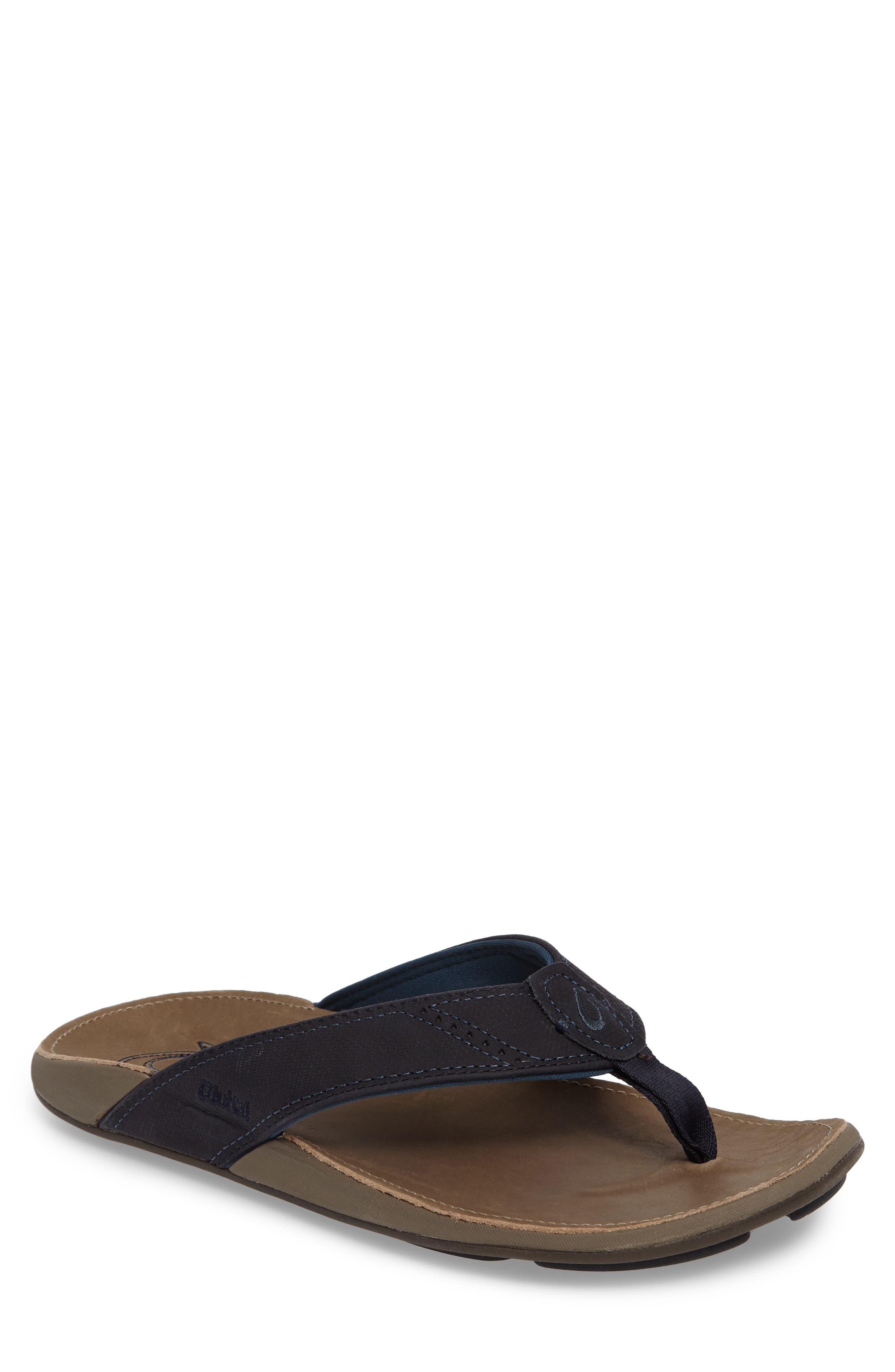 Main Image - OluKai 'Nui' Leather Flip Flop (Men)