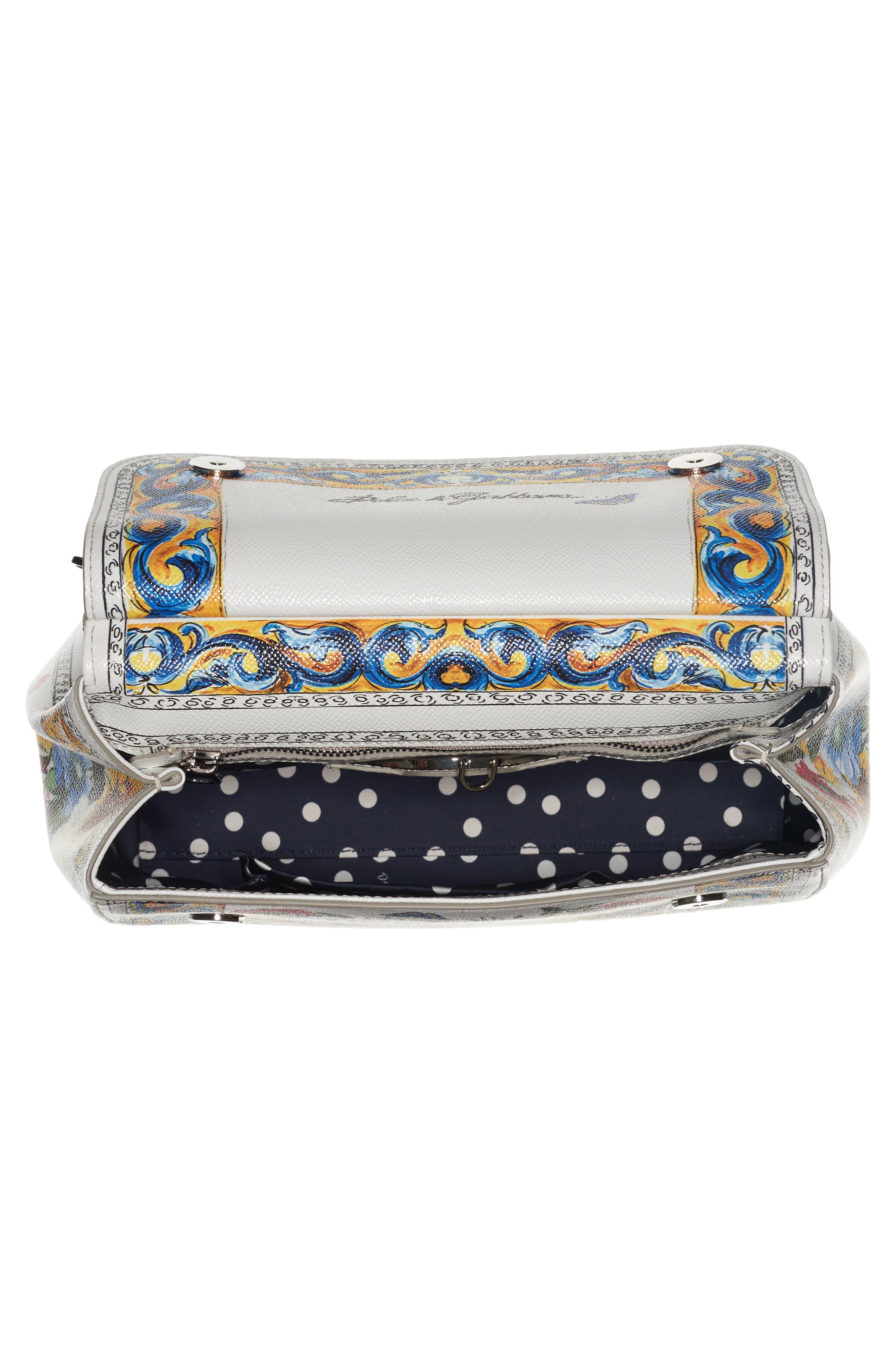 Alternate Image 3  - Dolce&Gabbana Medium Maiolica Fiori Sicily Leather Satchel