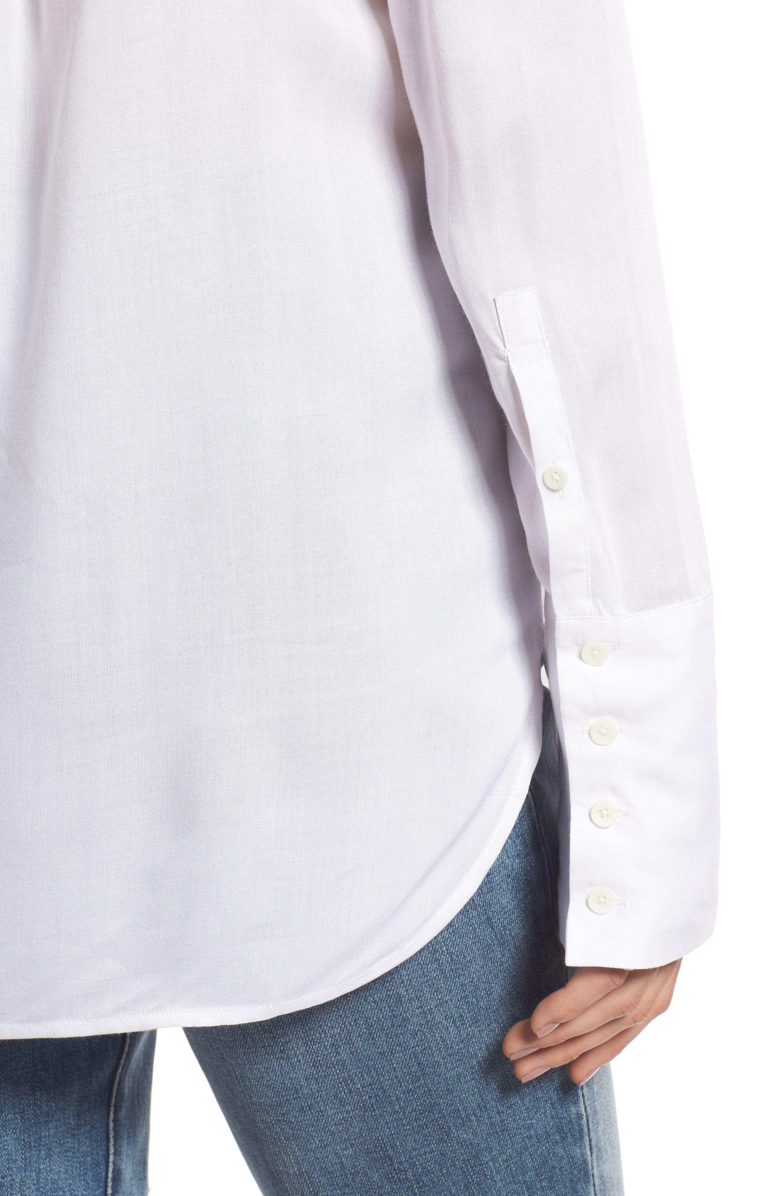 Alternate Image 4  - Treasure & Bond Deconstructed Off the Shoulder Shirt