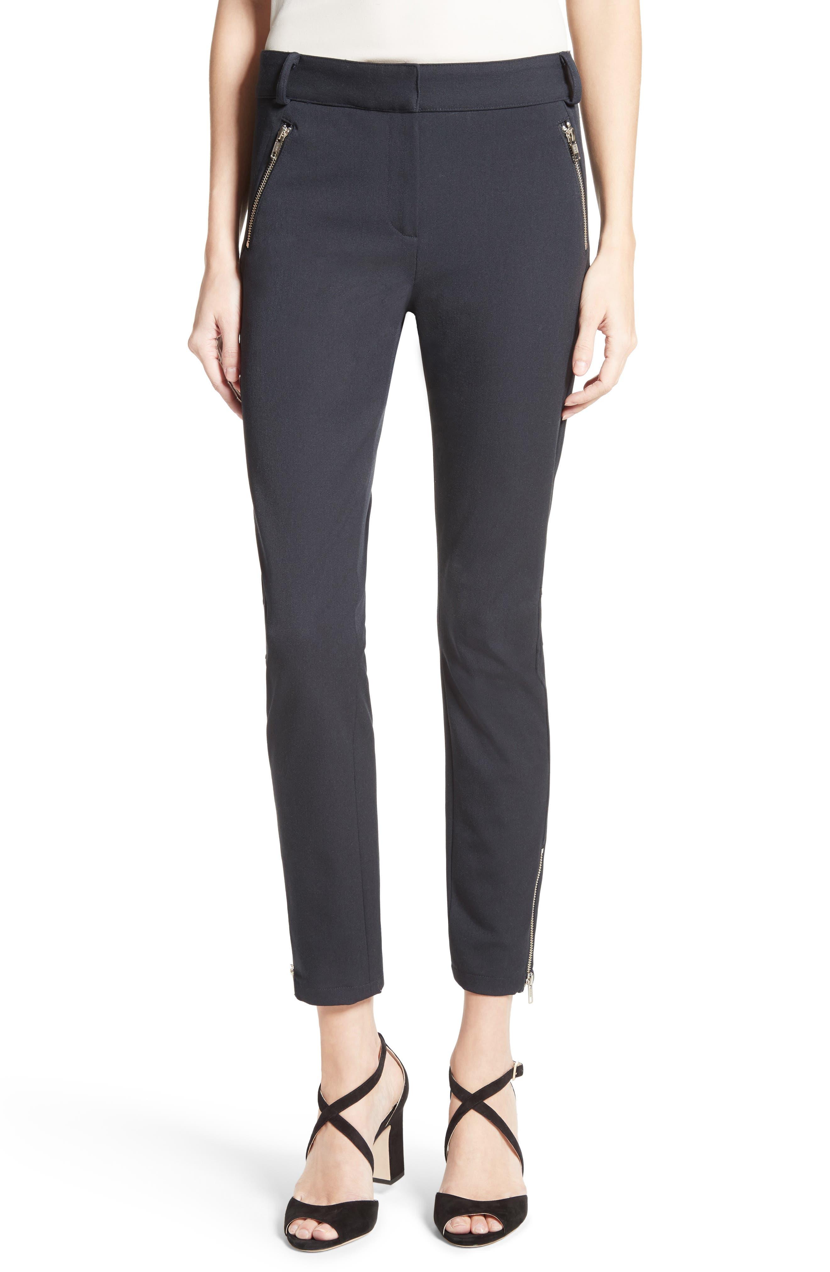 Ash Seamed Skinny Pants,                         Main,                         color, Black