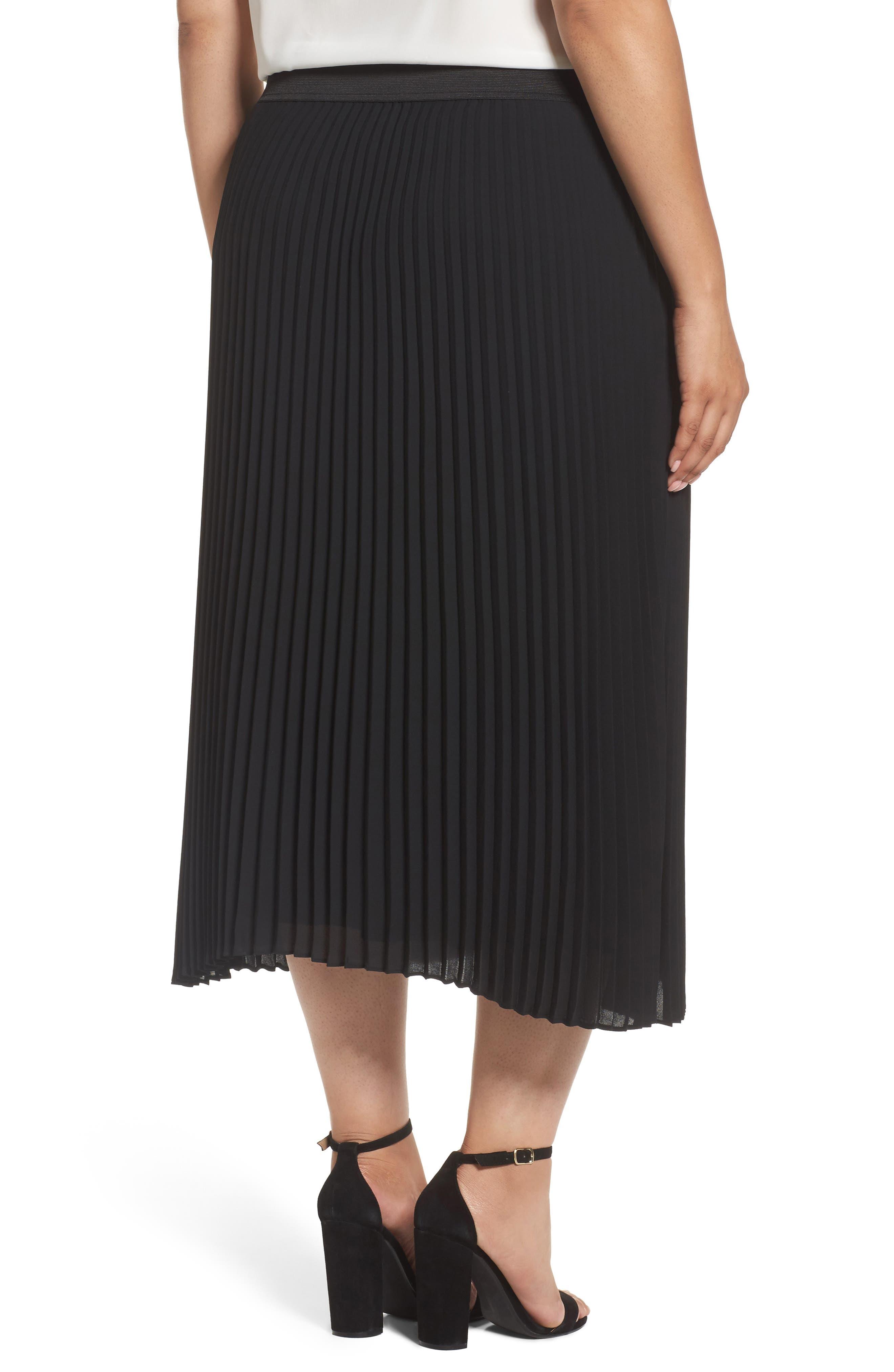 Alternate Image 3  - Sejour Pleated Midi Skirt (Plus Size)