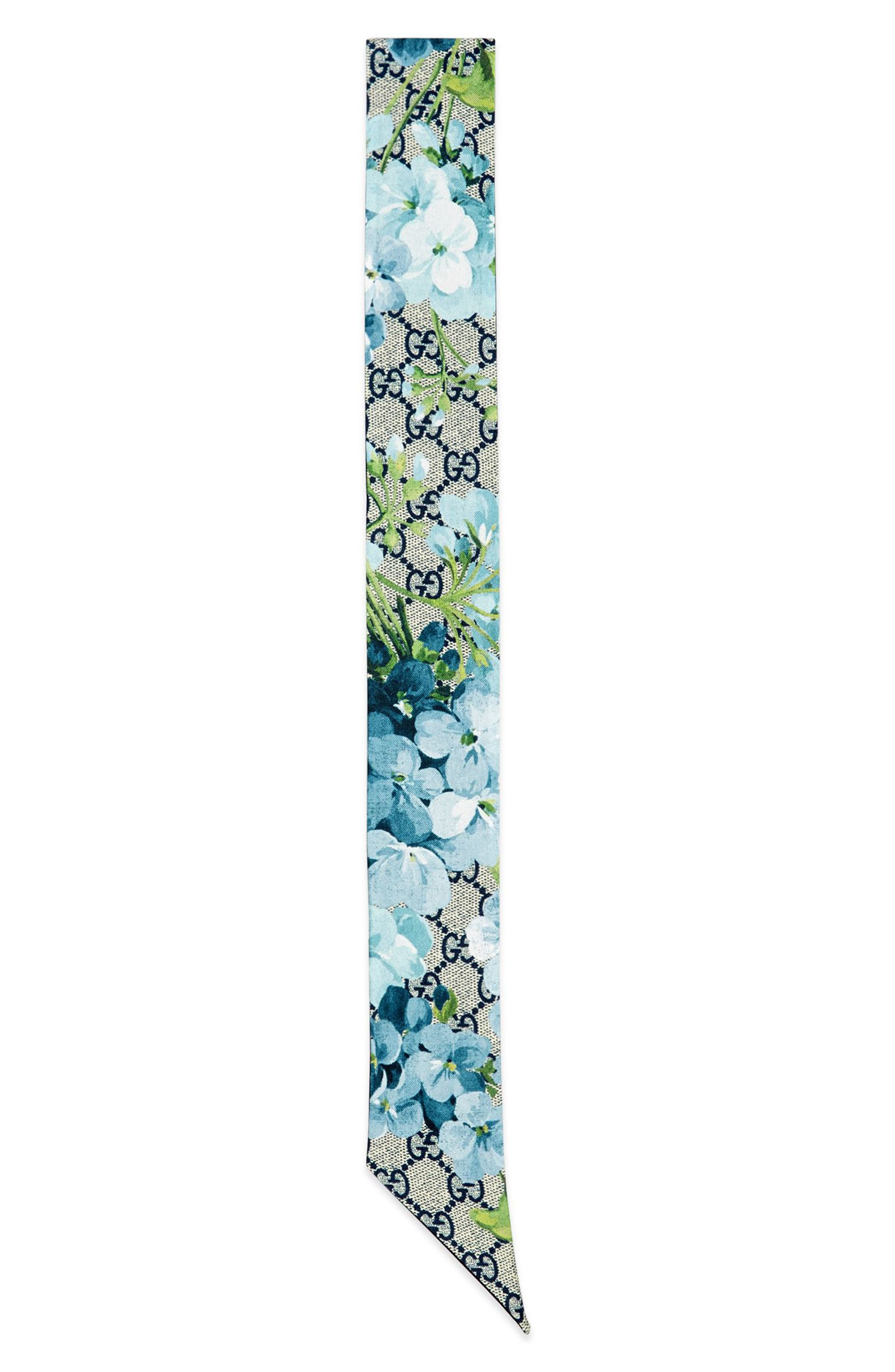 Main Image - Gucci GG Blooms Skinny Scarf