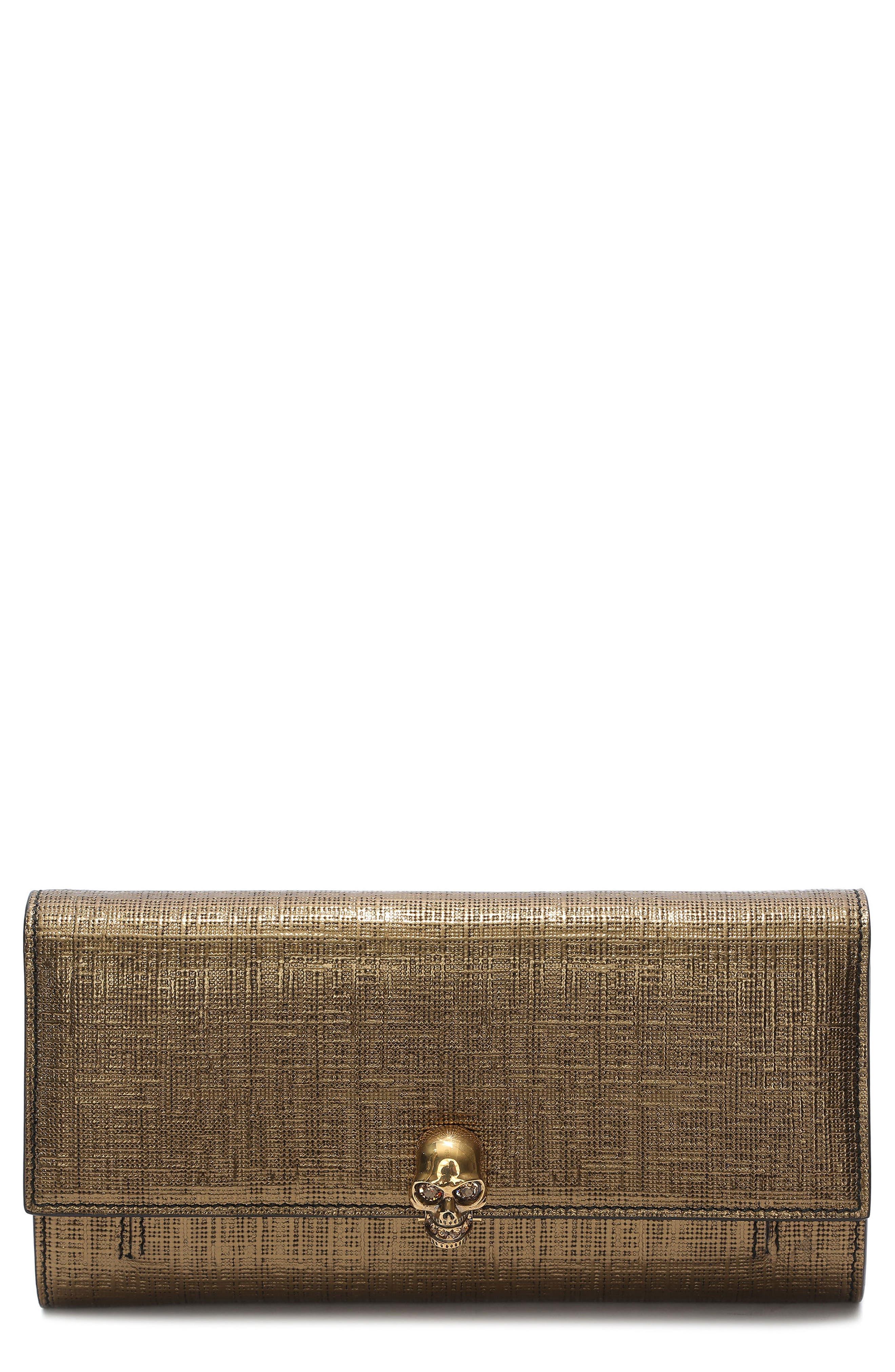 Alexander McQueen Calfskin Leather Wallet on a Chain