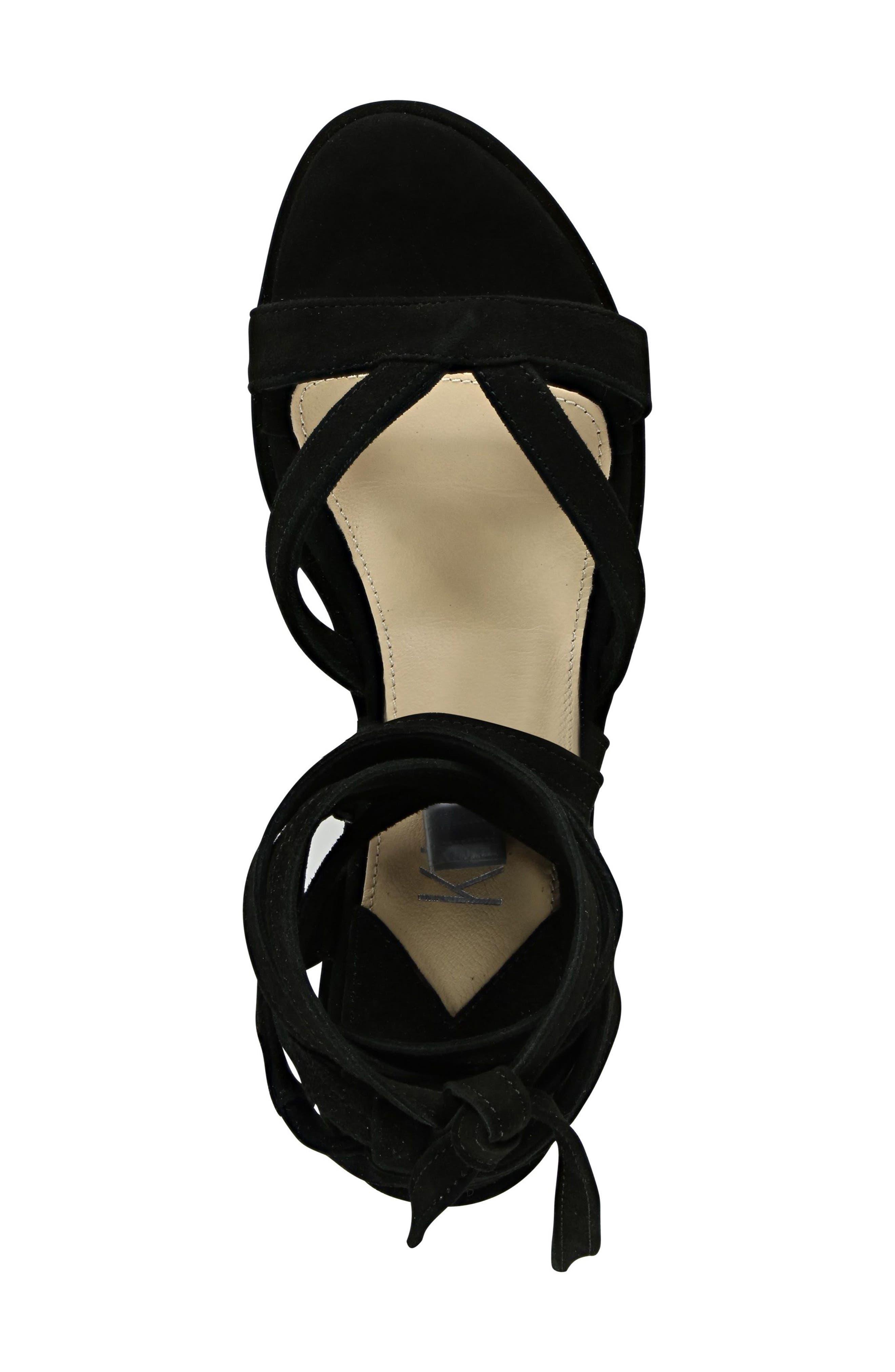 Keri Gladiator Platform Sandal,                             Alternate thumbnail 5, color,                             Black Suede