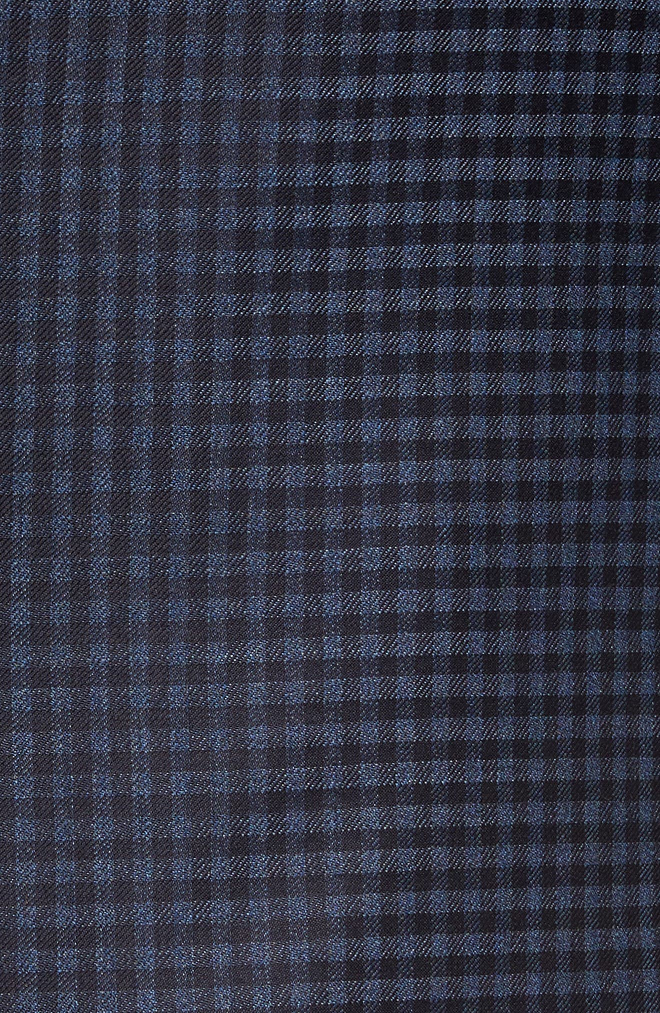 Classic Fit Check Wool Sport Coat,                             Alternate thumbnail 6, color,                             Navy
