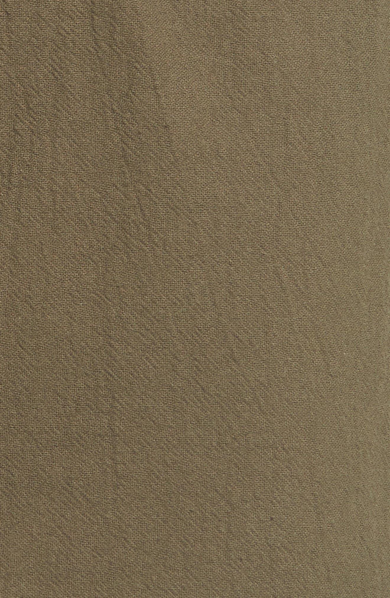 Paperbag Miniskirt,                             Alternate thumbnail 5, color,                             Olive Sarma
