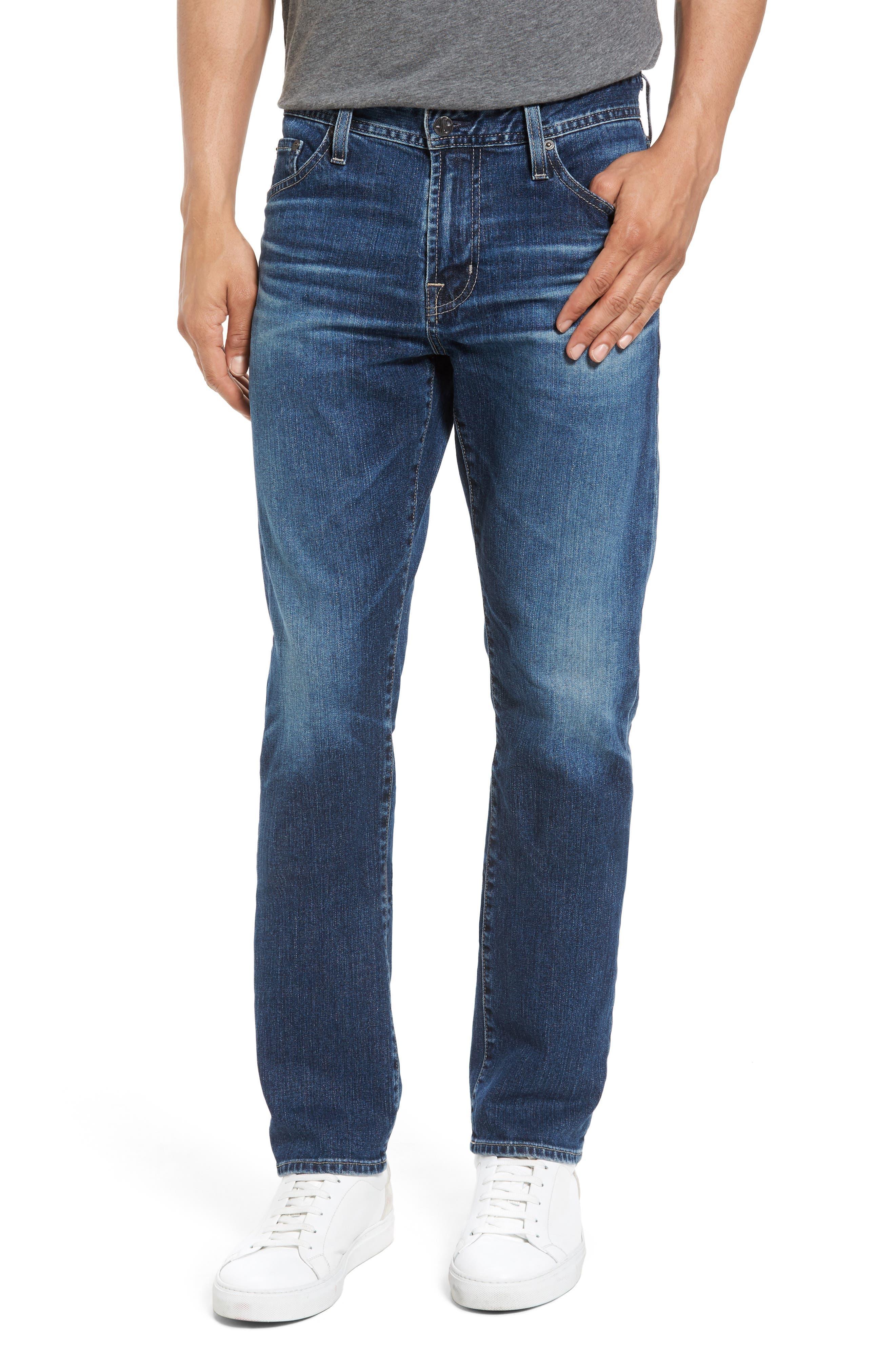 Alternate Image 1 Selected - AG Everett Slim Straight Leg Jeans (13 Years Stasis)