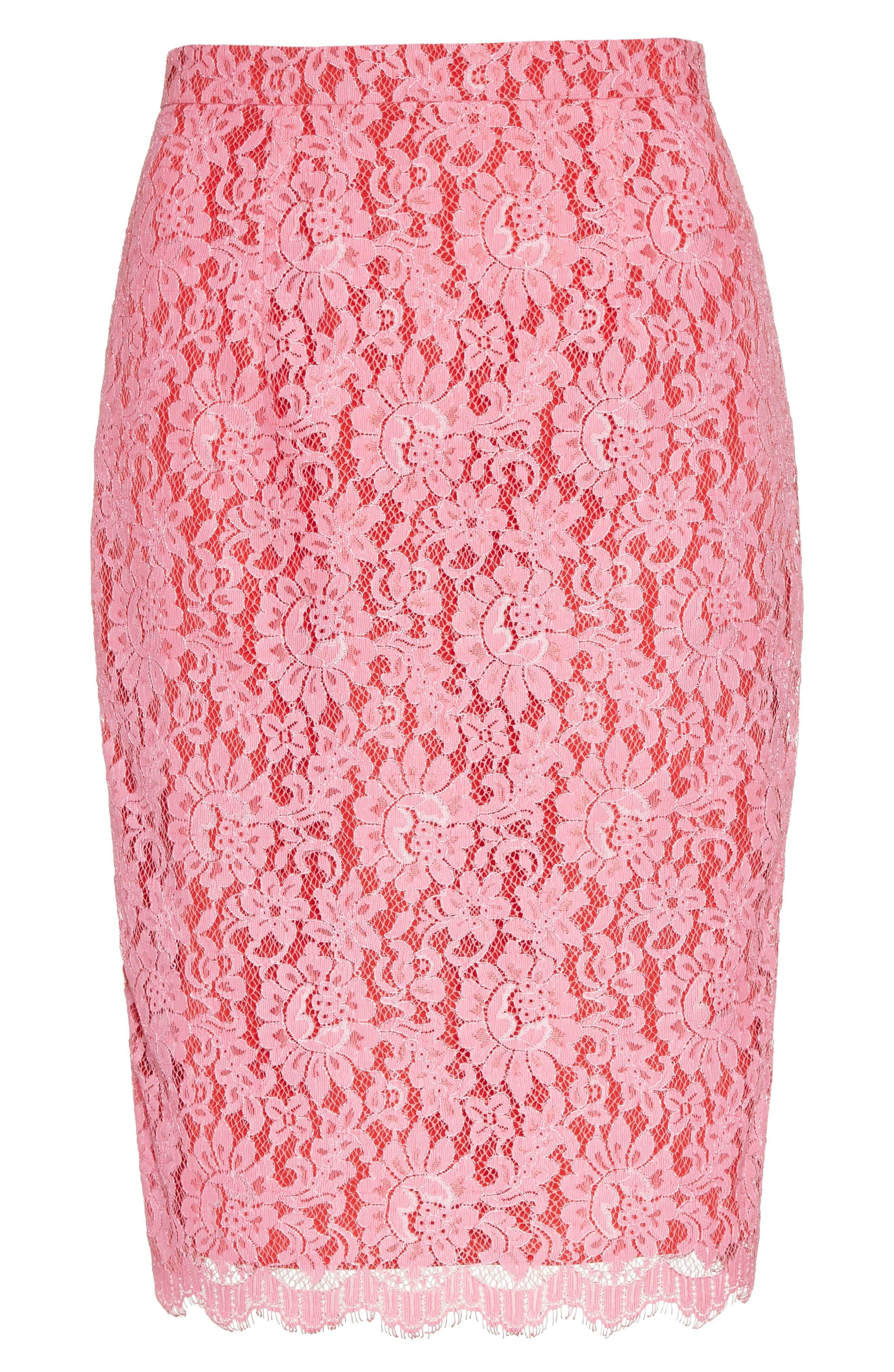 Alternate Image 6  - Diane von Furstenberg Lace Pencil Skirt