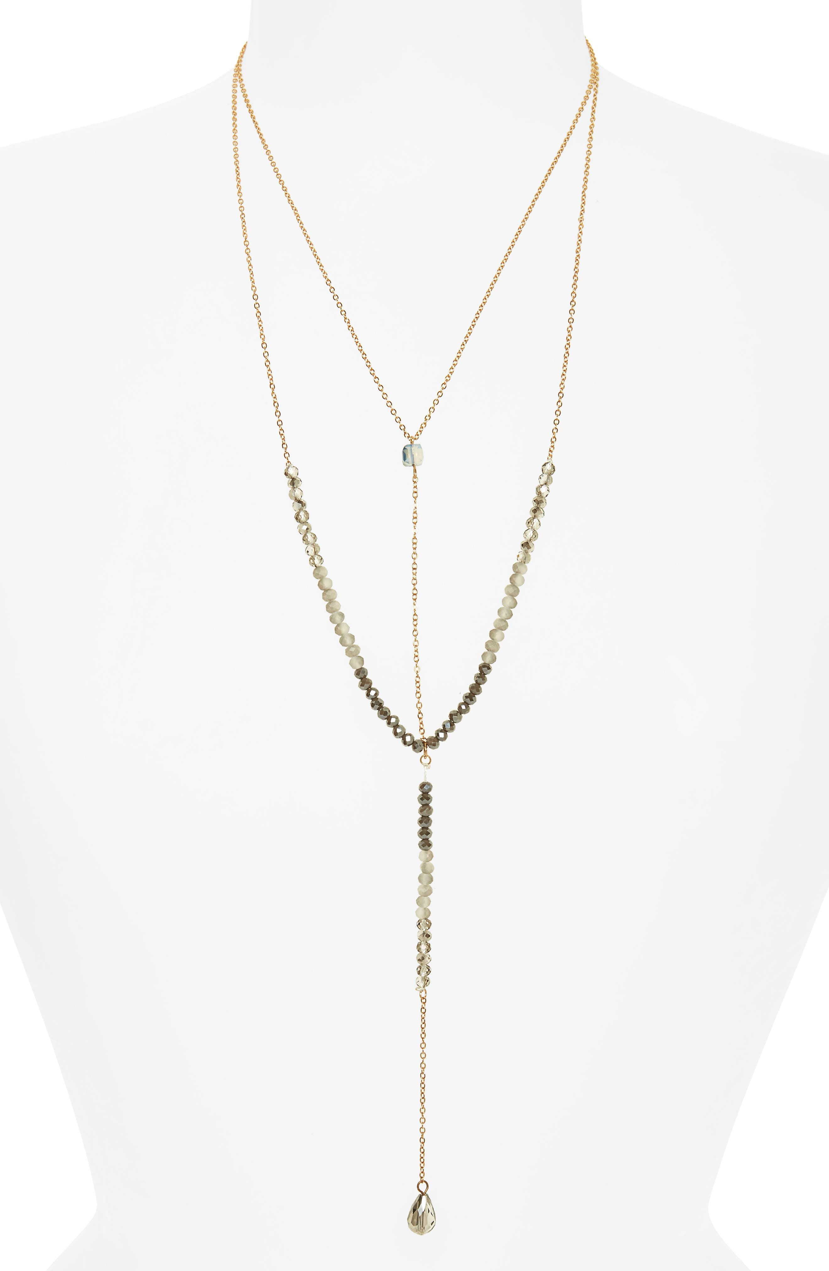PANACEA Beaded Layered Y-Necklace