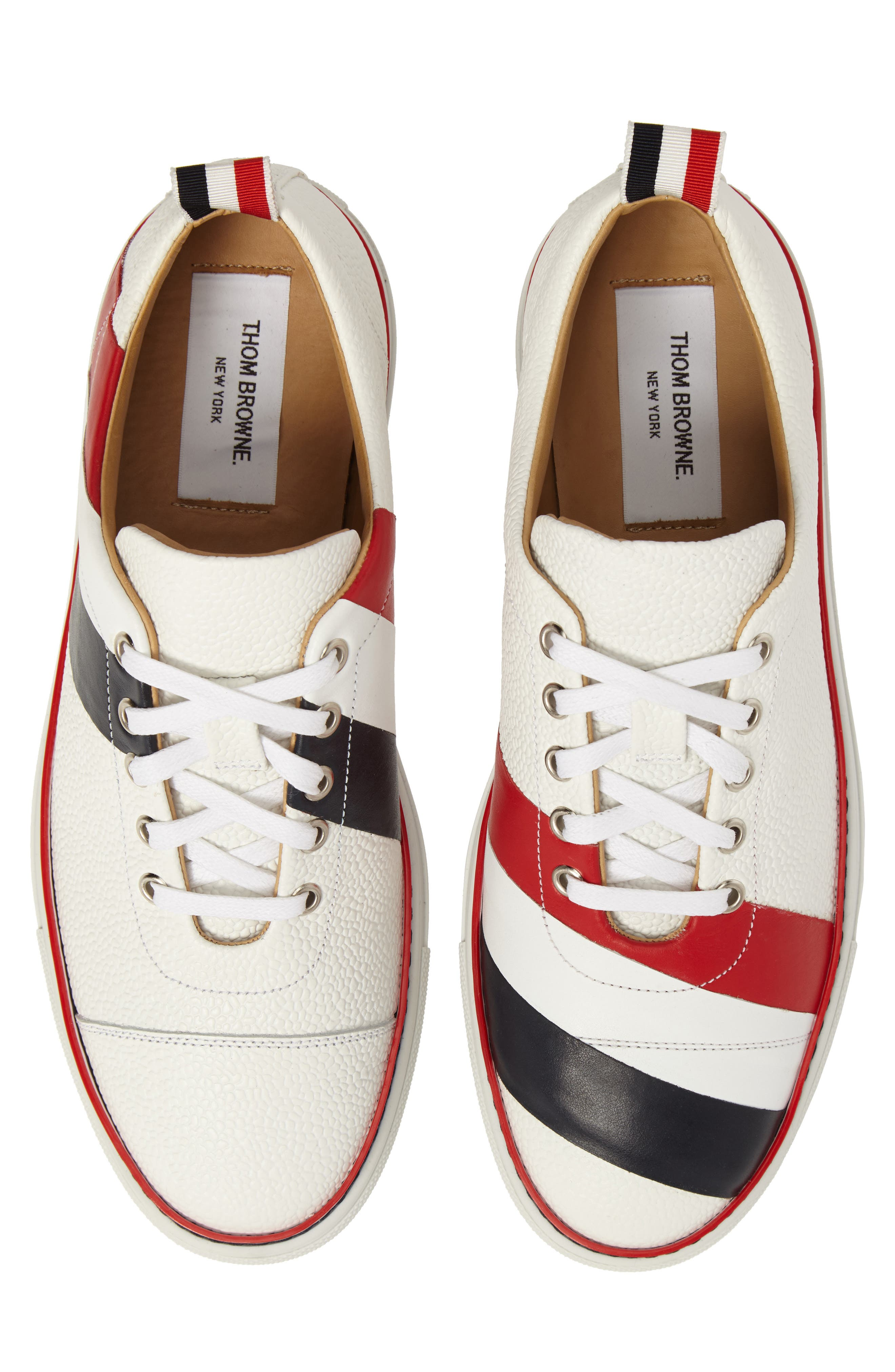 Asymmetrical Stripe Sneaker,                             Alternate thumbnail 5, color,                             100 White
