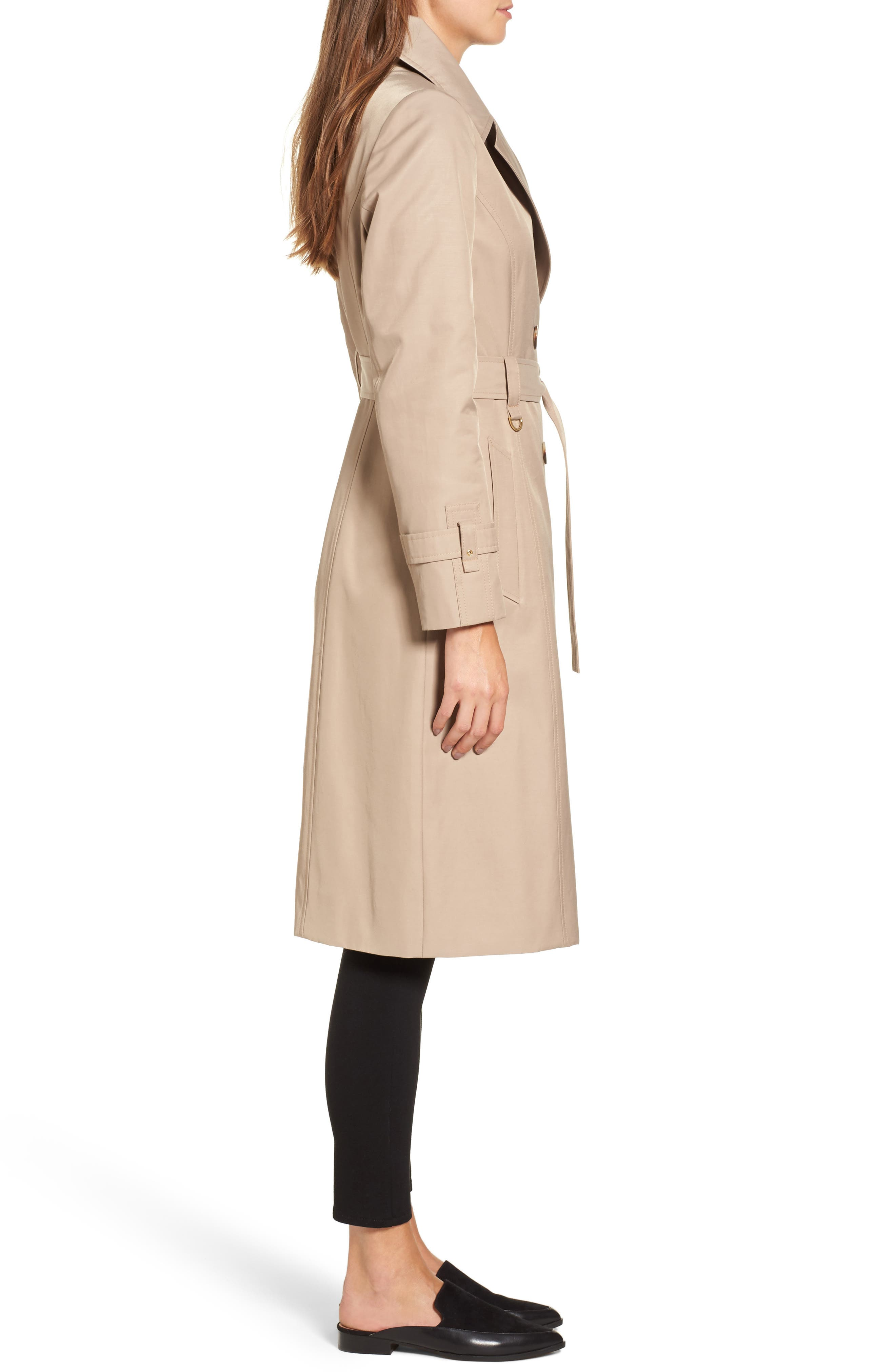 Alternate Image 3  - Via Spiga Double Breasted Trench Coat