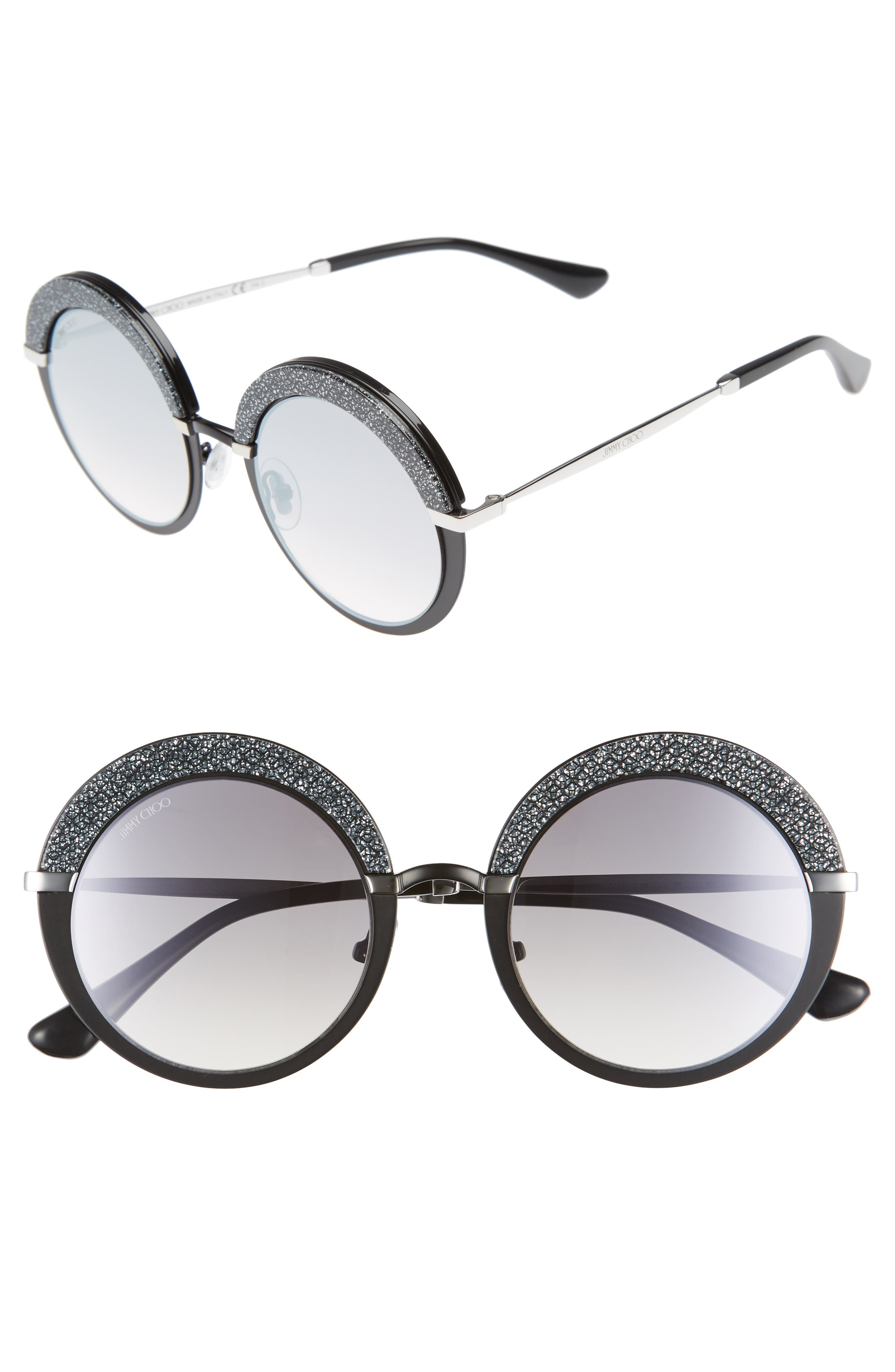 Main Image - Jimmy Choo Gotha/S 50mm Round Sunglasses