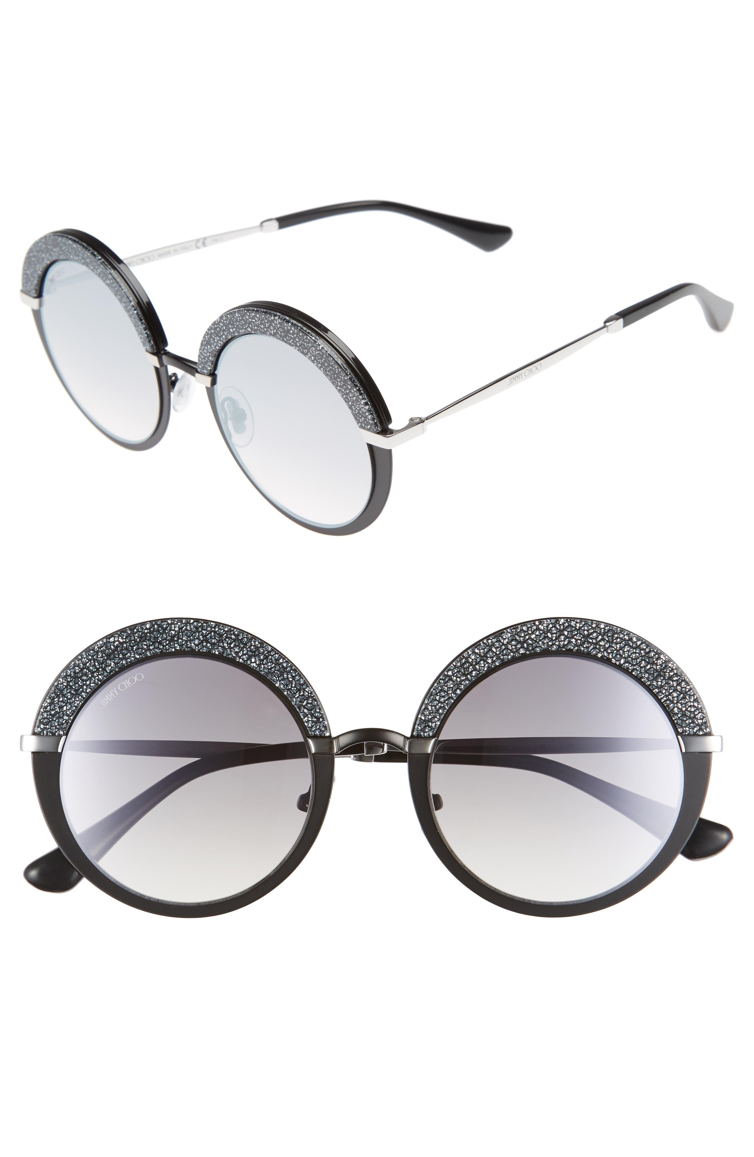 Gotha/S 50mm Round Sunglasses,                         Main,                         color, Matte Black/ Palladium