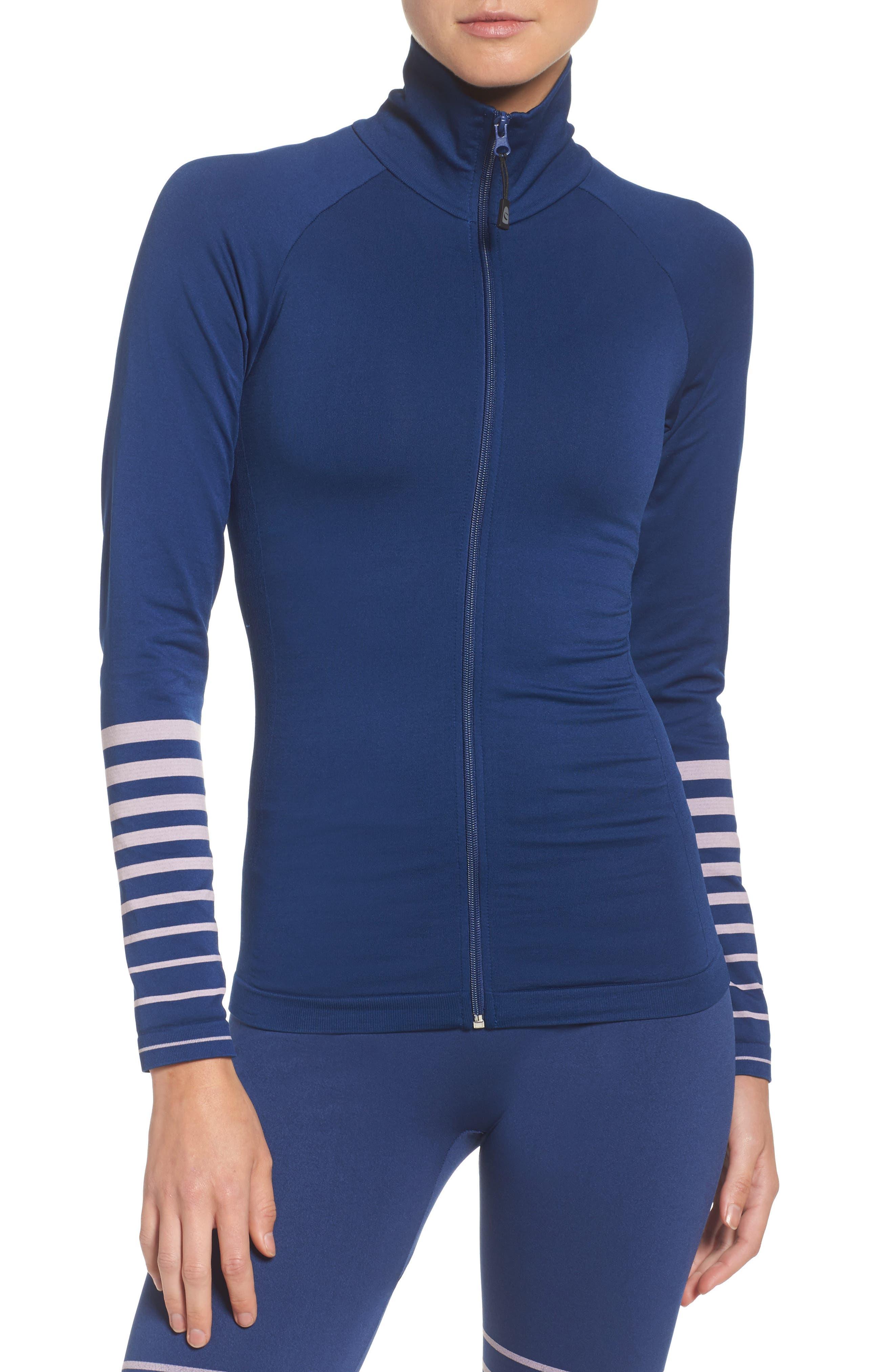Finish Line Training Jacket,                         Main,                         color, Estate Blue And Crystal Pink