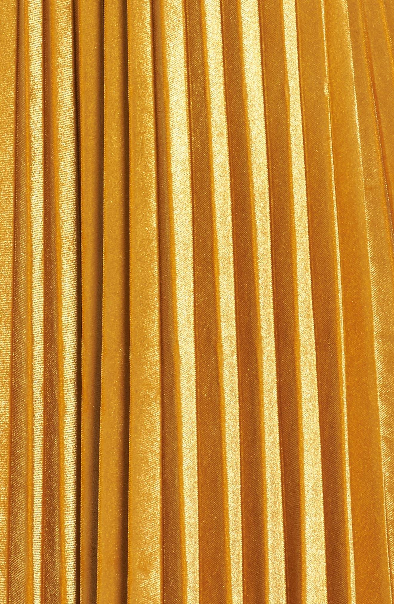 Alternate Image 6  - Chelsea28 Pleated Velvet Skirt