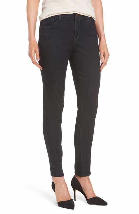 Topshop High Waist Raw Hem Straight Leg Jeans By TOPSHOP by TOPSHOP Cool