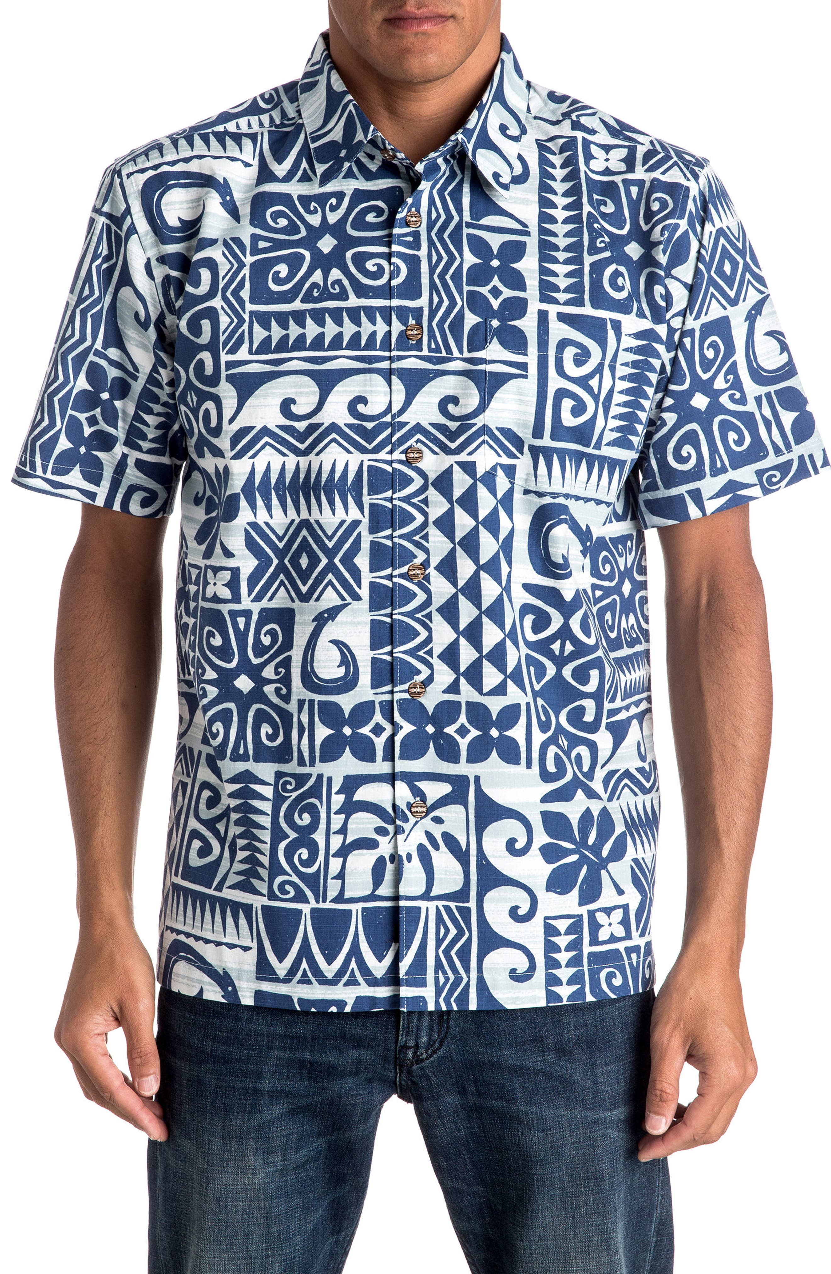 Cooks Regular Fit Print Sport Shirt,                         Main,                         color, Plein Air