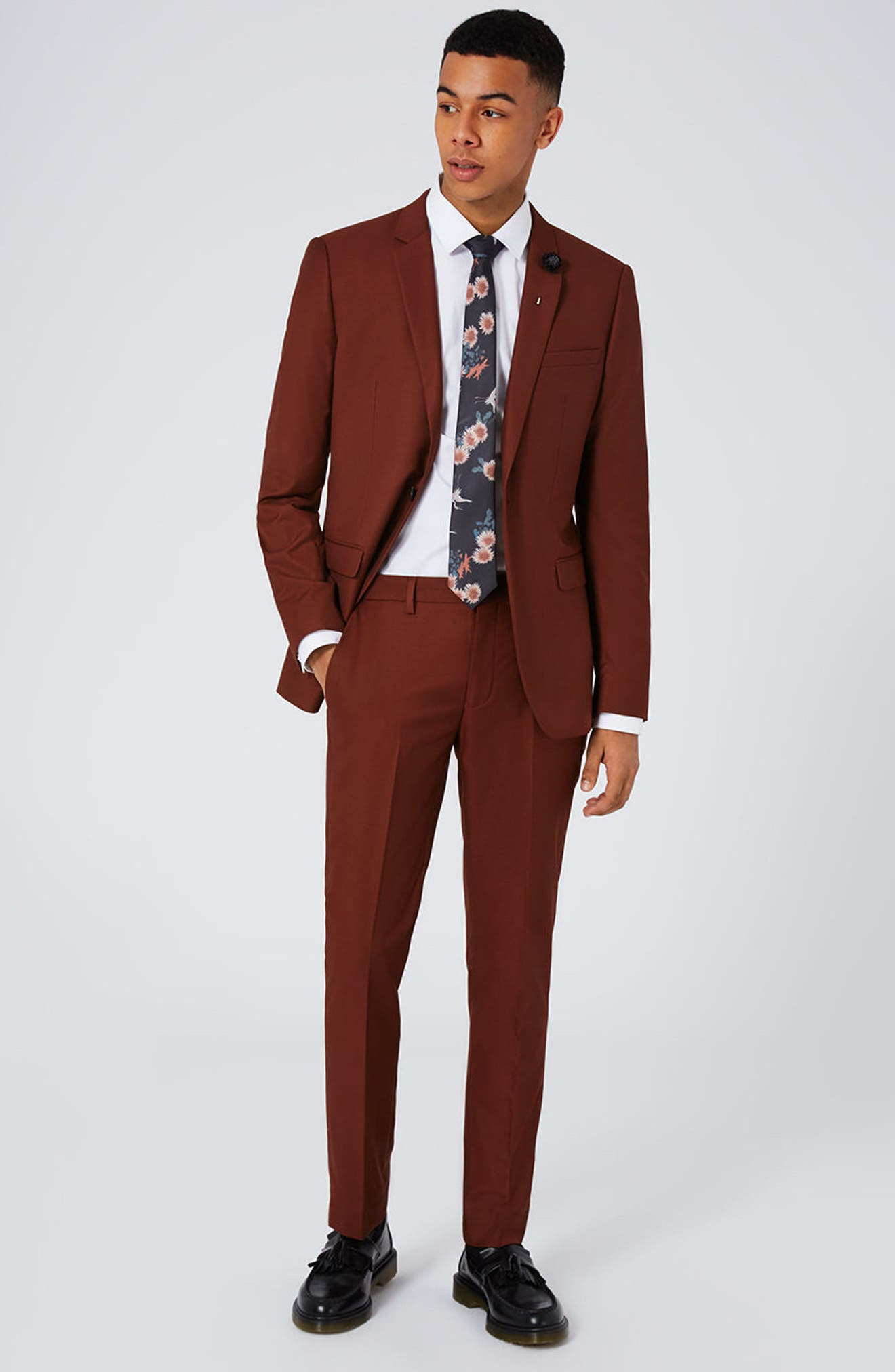 Alternate Image 2  - Topman Skinny Fit Suit Trousers