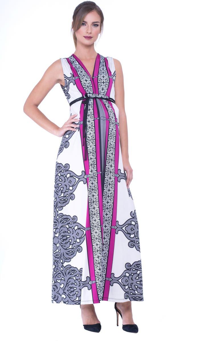 Print Maxi Maternity Dress