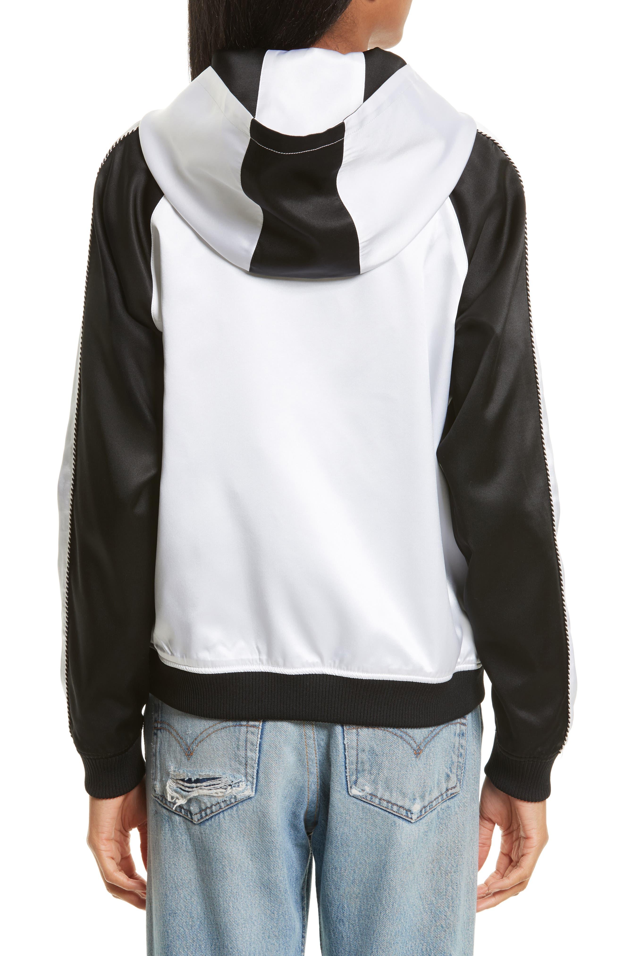 OC Reversible Silk Track Jacket,                             Alternate thumbnail 2, color,                             Black Multi