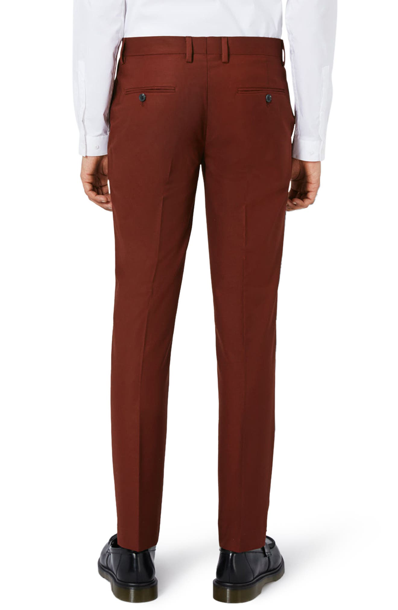 Alternate Image 3  - Topman Skinny Fit Suit Trousers