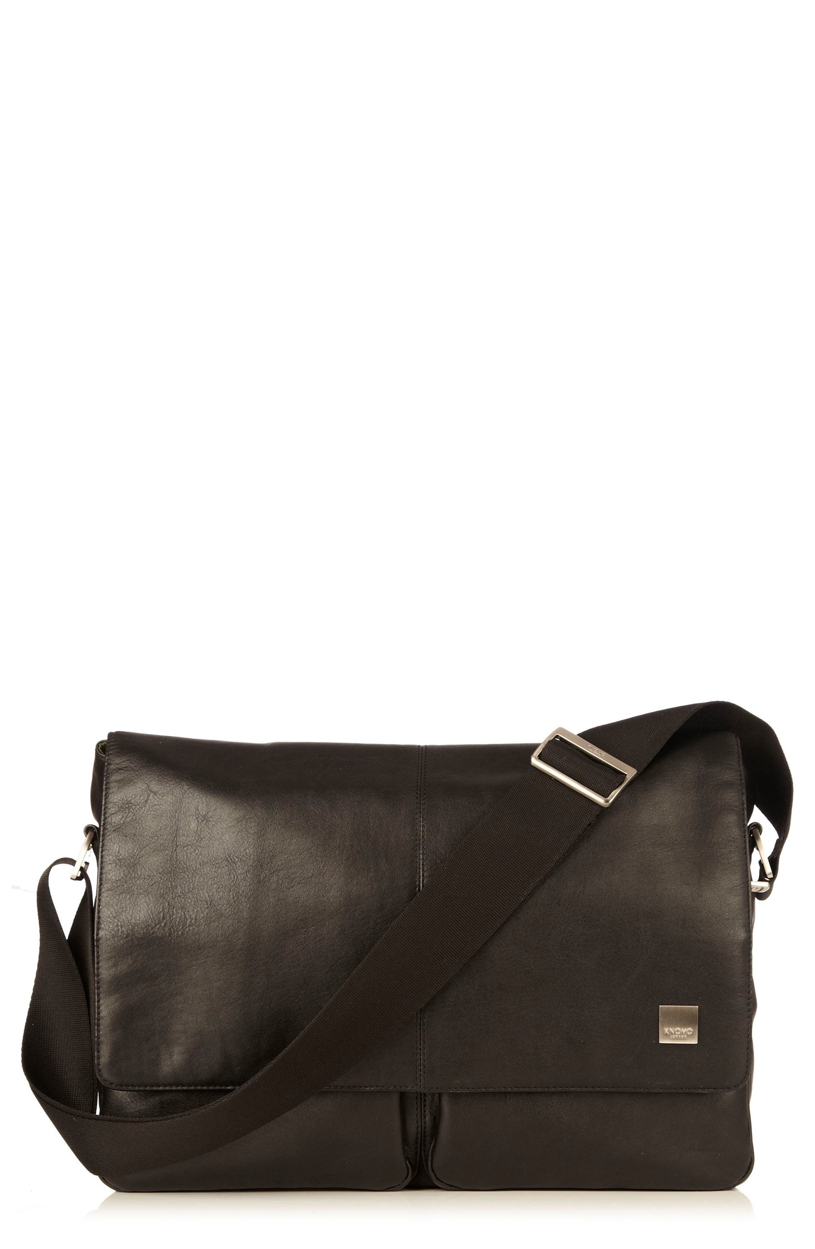 KNOMO London Brompton Kobe RFID Leather Messenger Bag
