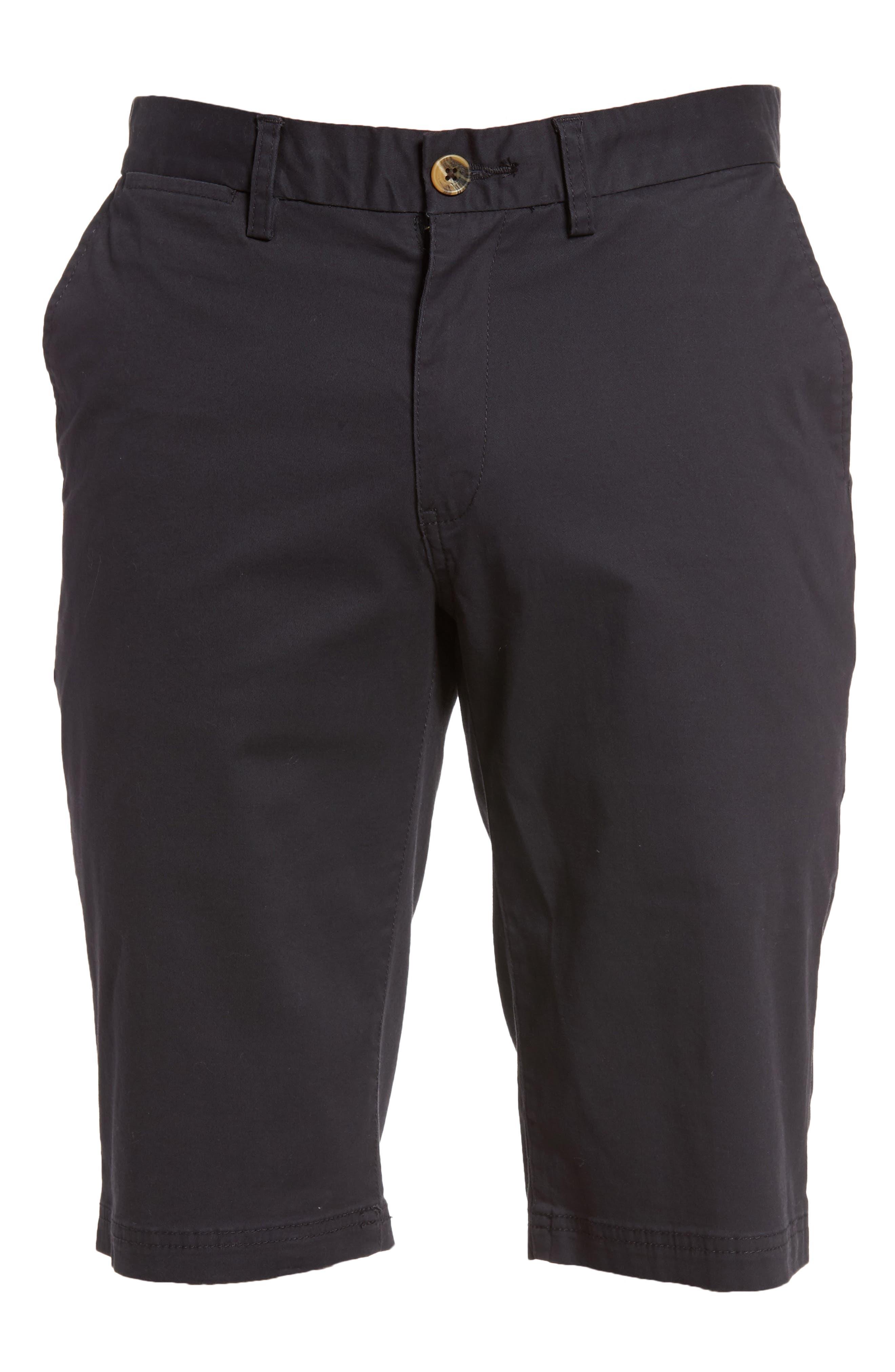 Slim Stretch Chino Shorts,                             Alternate thumbnail 6, color,                             Dark Navy