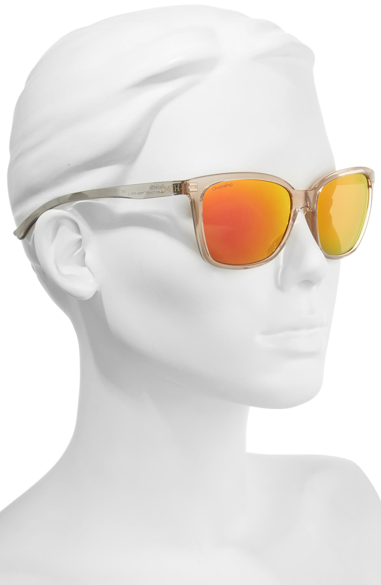 Colette Chromapop 55mm Polarized Mirrored Lens Sunglasses,                             Alternate thumbnail 2, color,                             Desert Crystal/ Smoke