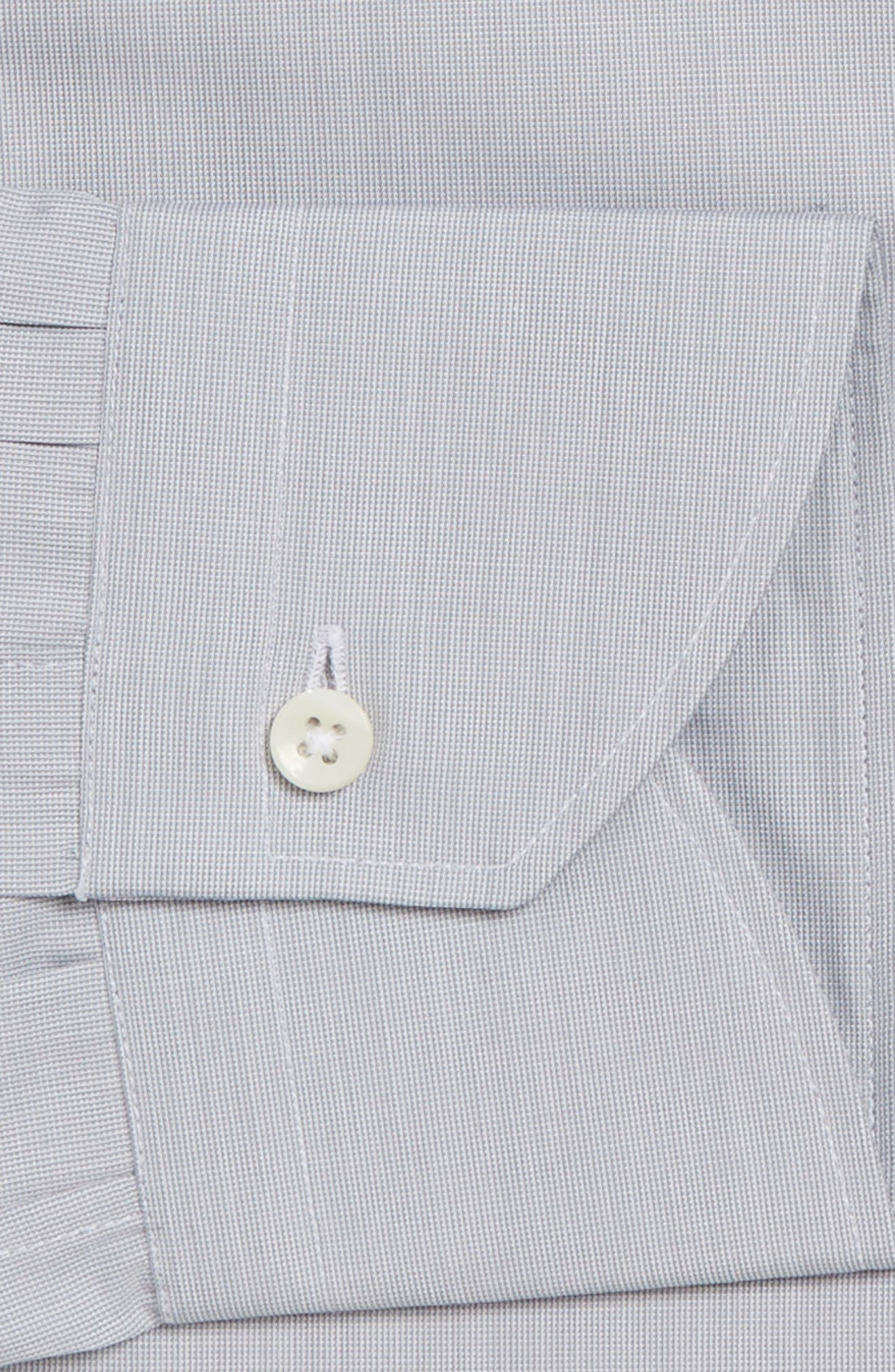 Alternate Image 4  - Canali Regular Fit Solid Dress Shirt