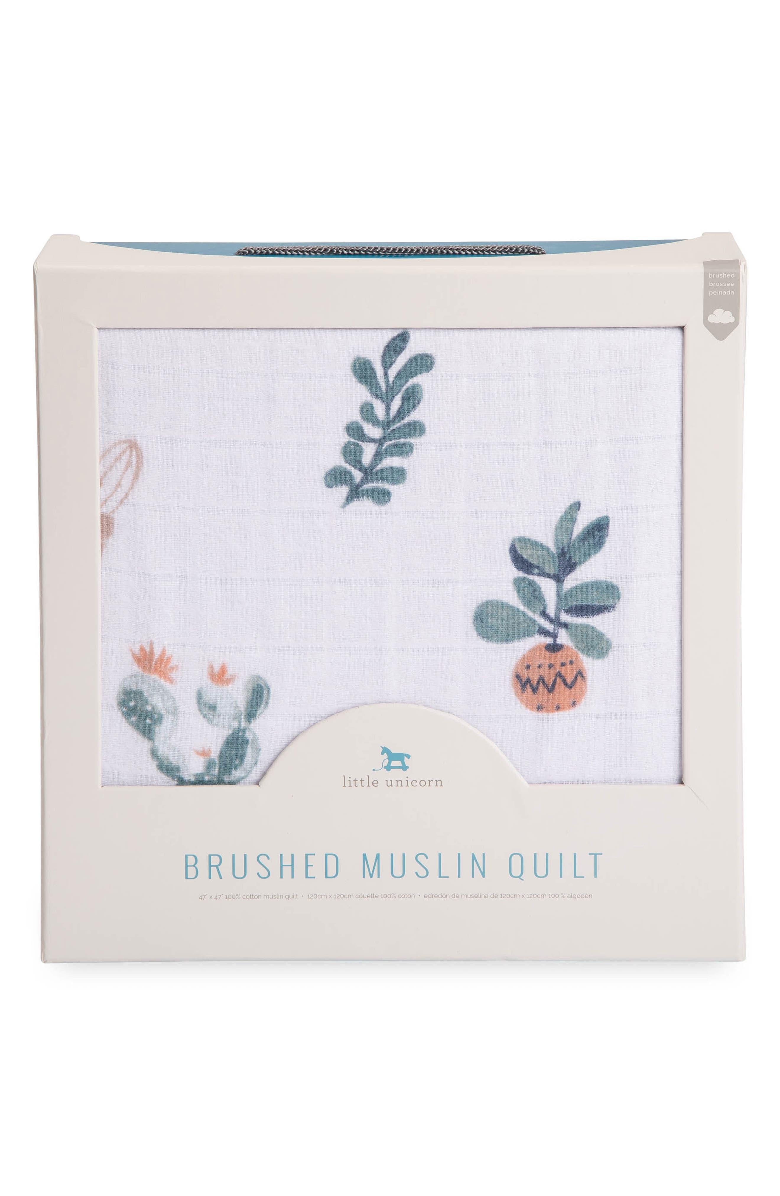 Alternate Image 3  - little unicorn Brushed Cotton Muslin Quilt
