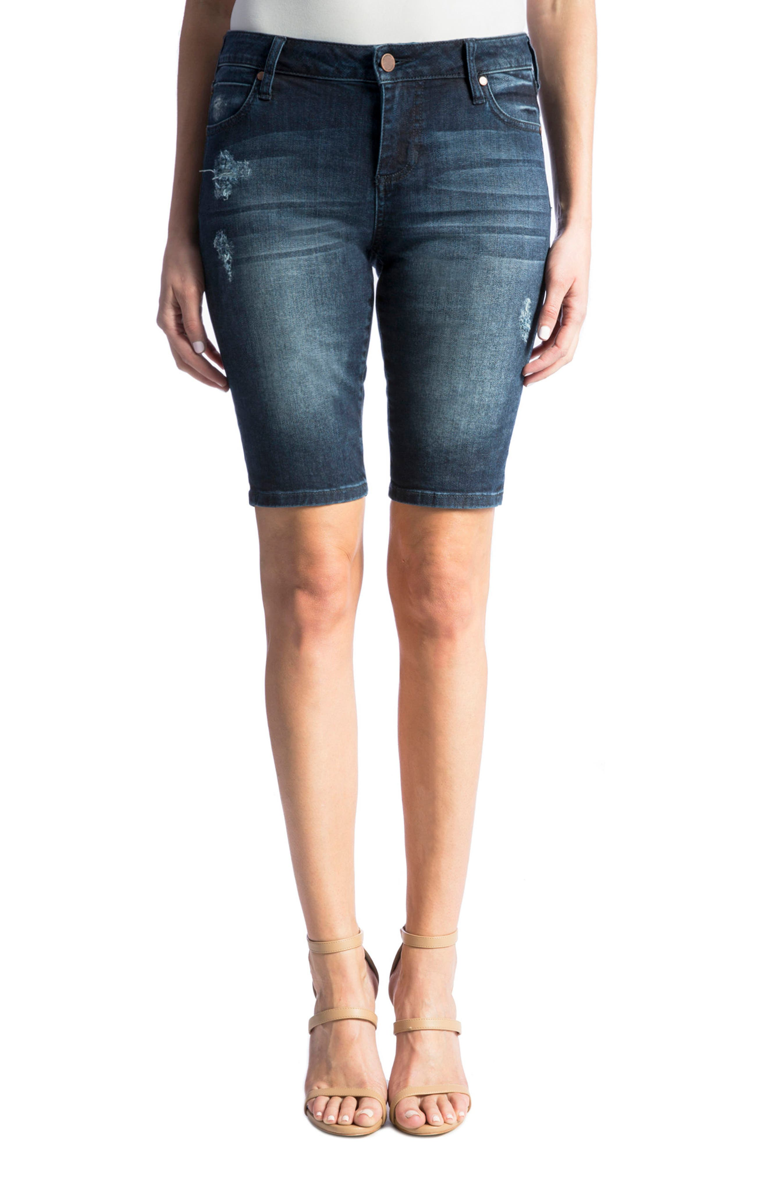 Main Image - Liverpool Jeans Company Bobbi Denim Bermuda Shorts