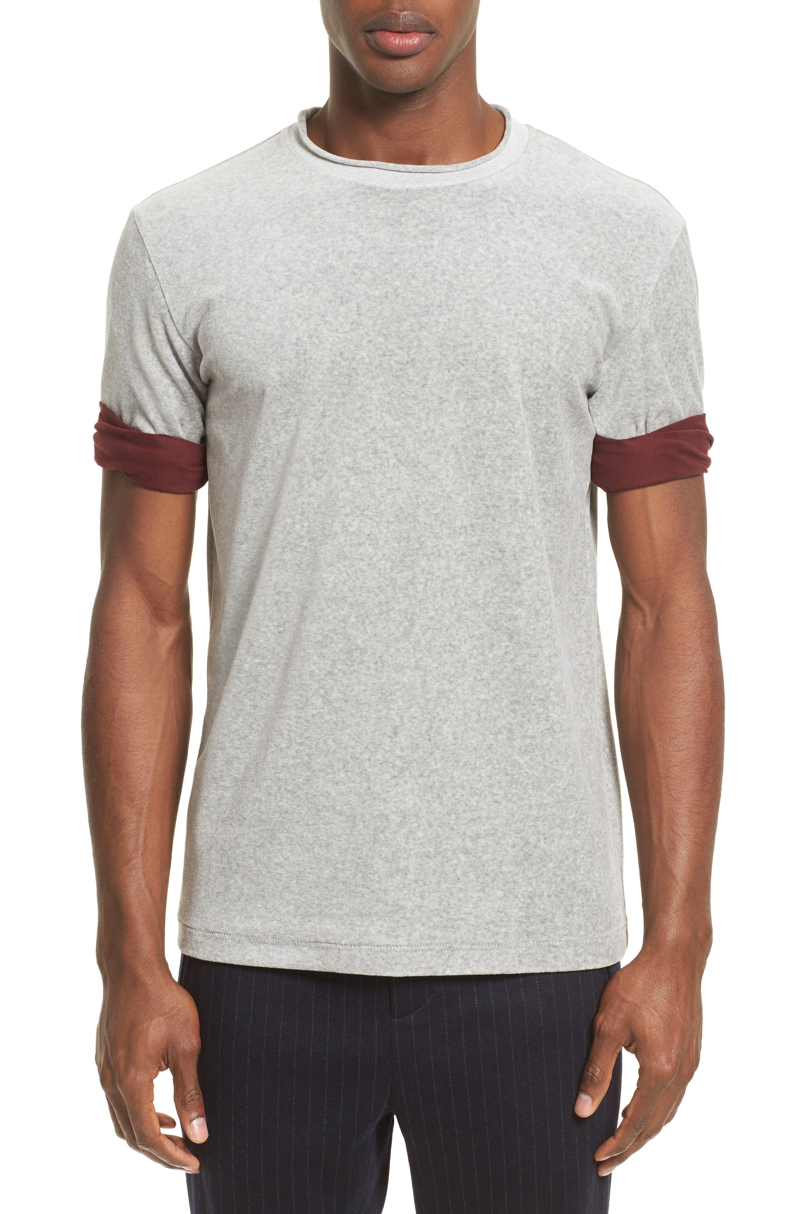 Alternate Image 1 Selected - 3.1 Phillip Lim Velour Crewneck T-Shirt