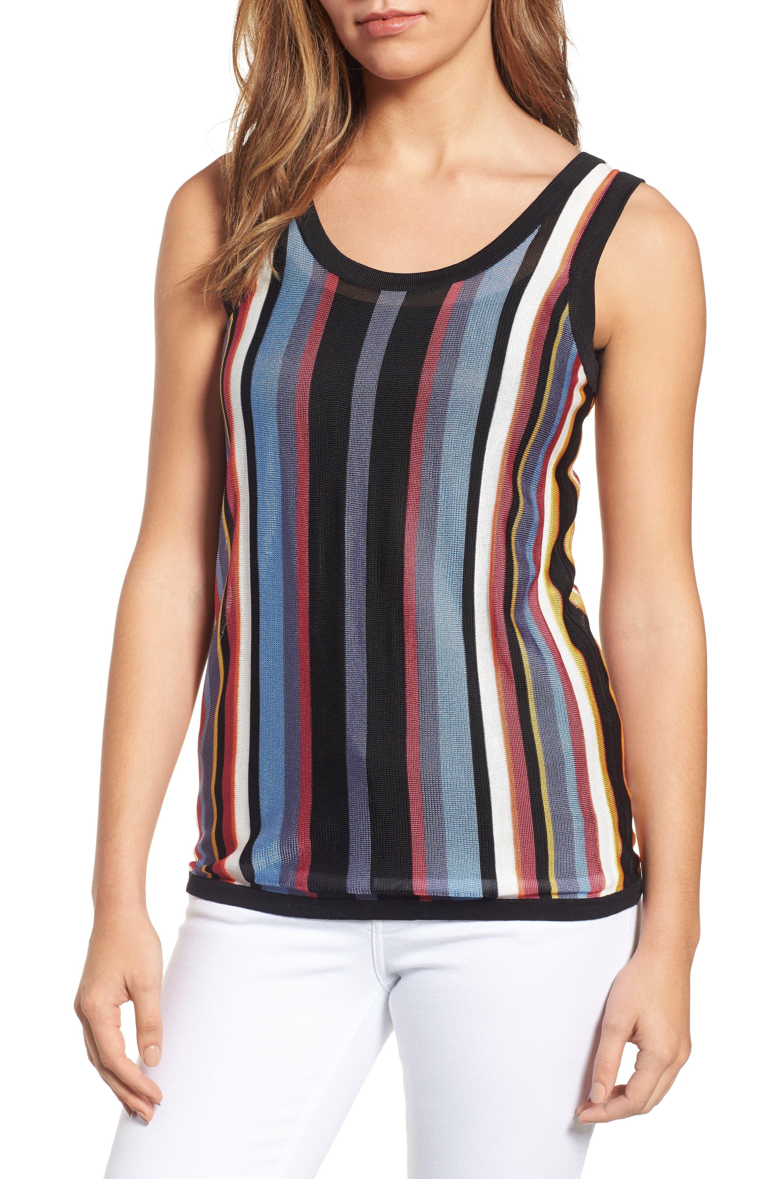 Stripe Sweater Tank,                             Main thumbnail 1, color,                             Eton Blue Combo