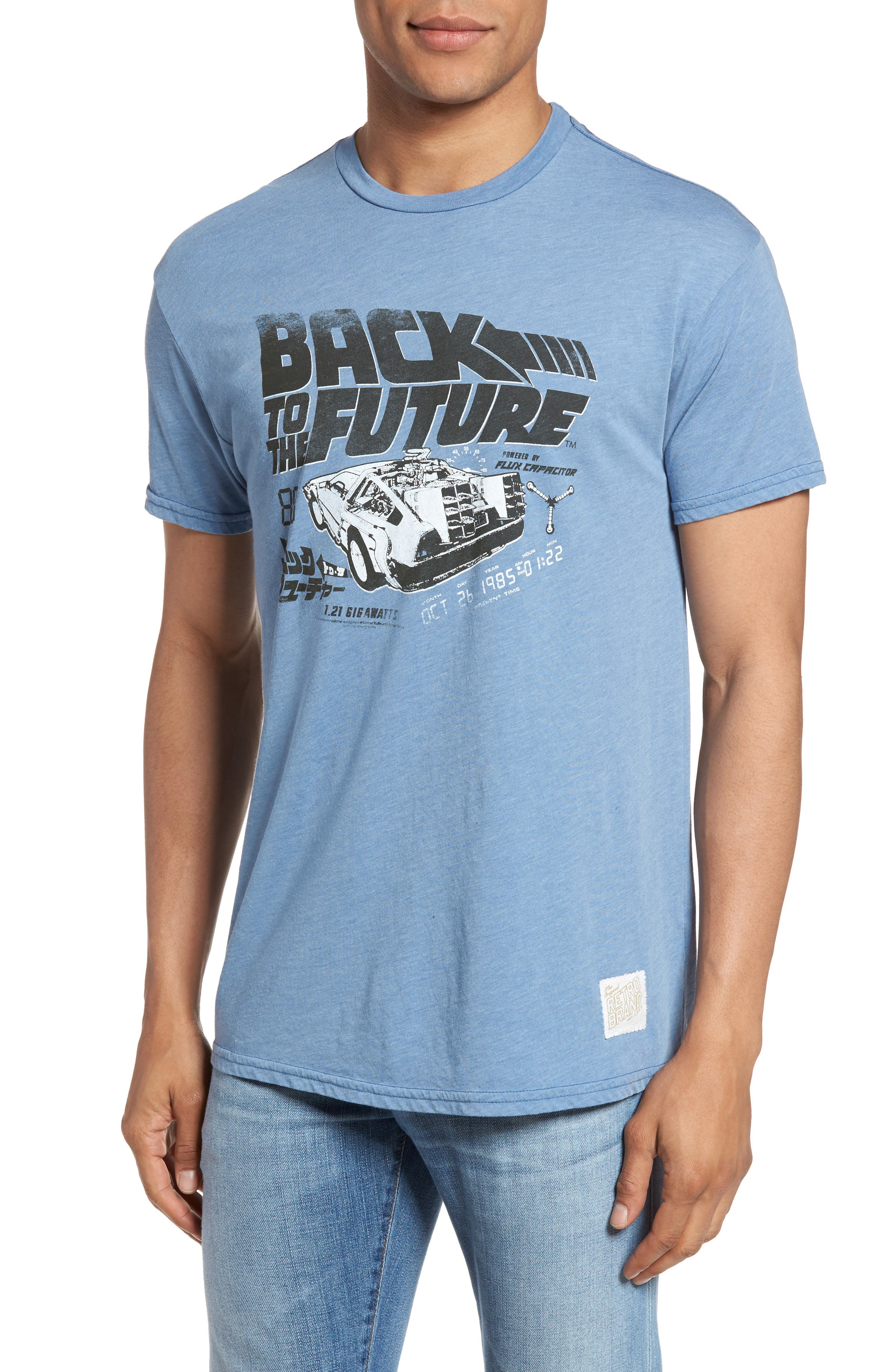 Back to the Future Graphic T-Shirt,                         Main,                         color, Blue