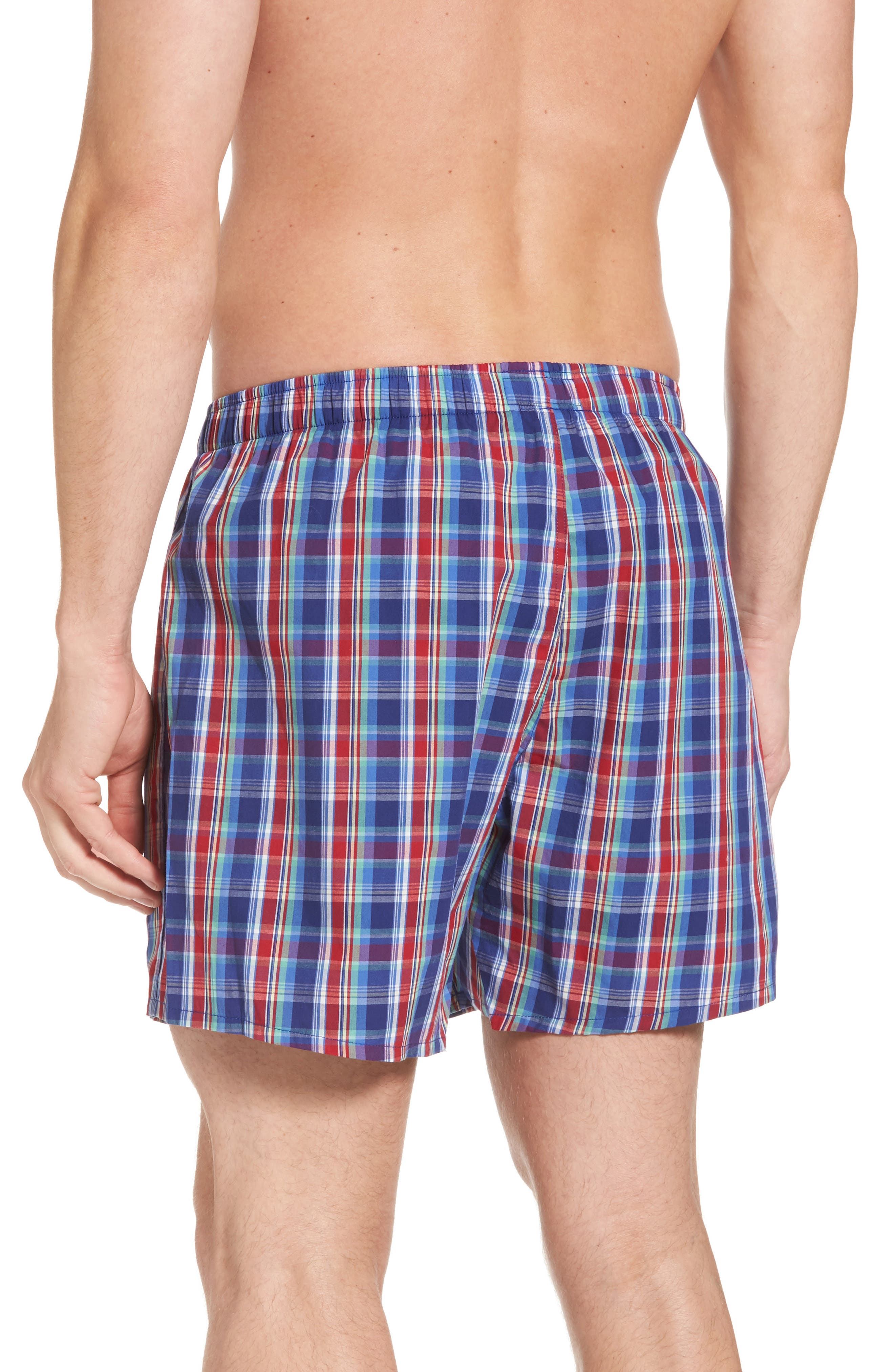 Classic Woven Cotten Boxers,                             Alternate thumbnail 2, color,                             Baxter Plaid