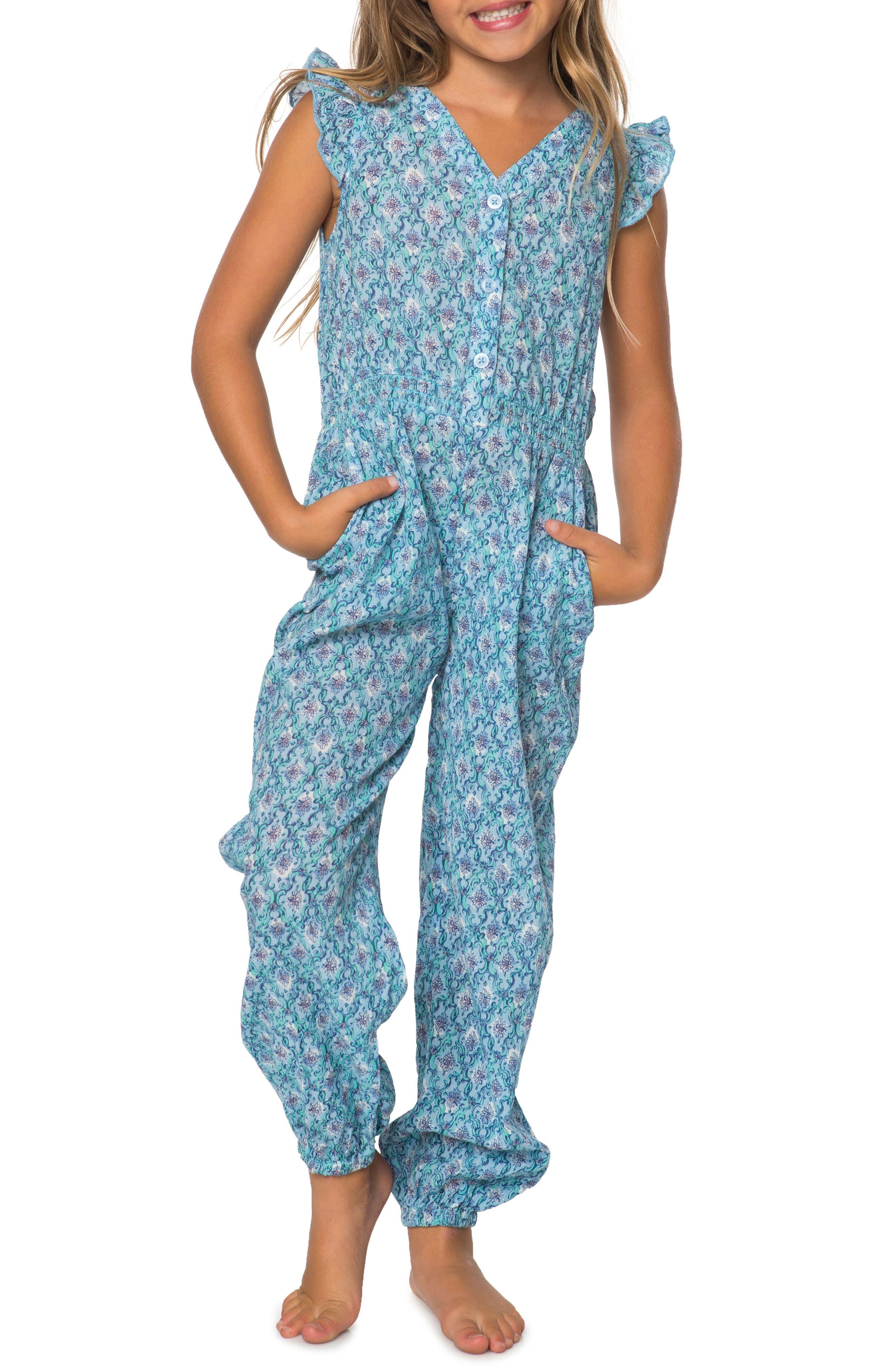 Alternate Image 1 Selected - O'Neill Ella Romper (Toddler Girls & Little Girls)