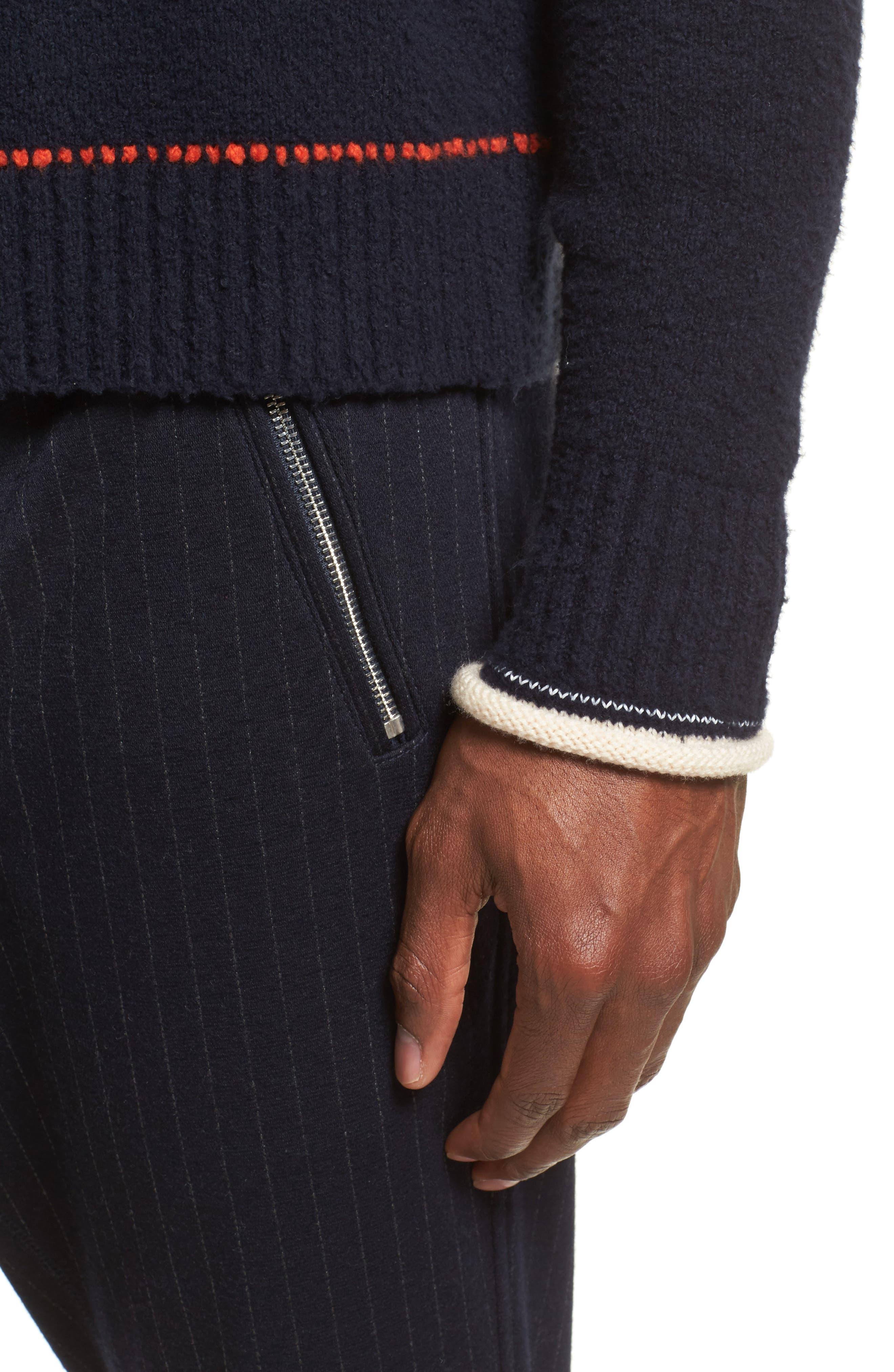 Plaited Sweater,                             Alternate thumbnail 4, color,                             Dark Navy