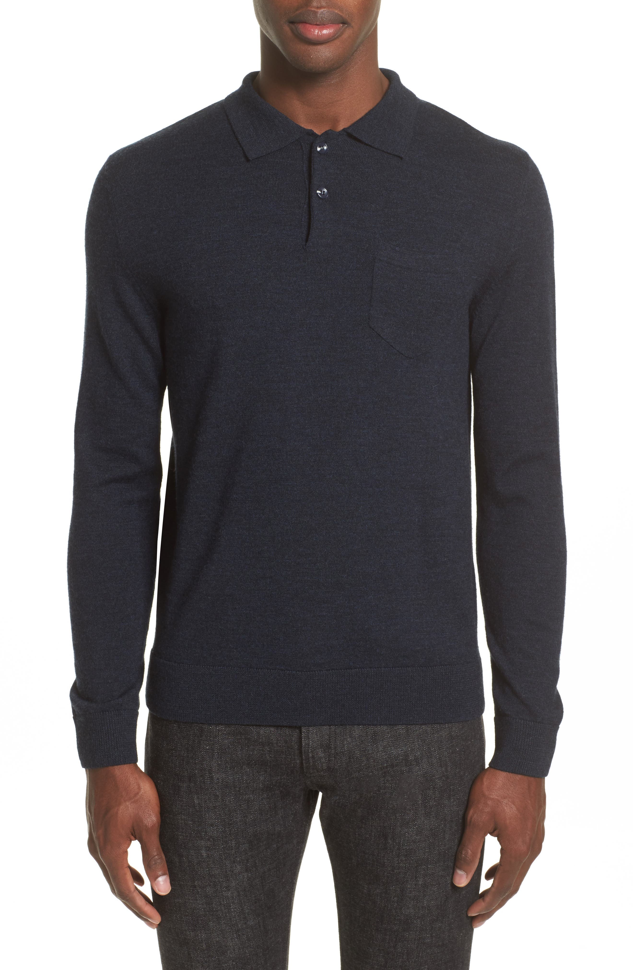 A.P.C. Ricky Long Sleeve Polo