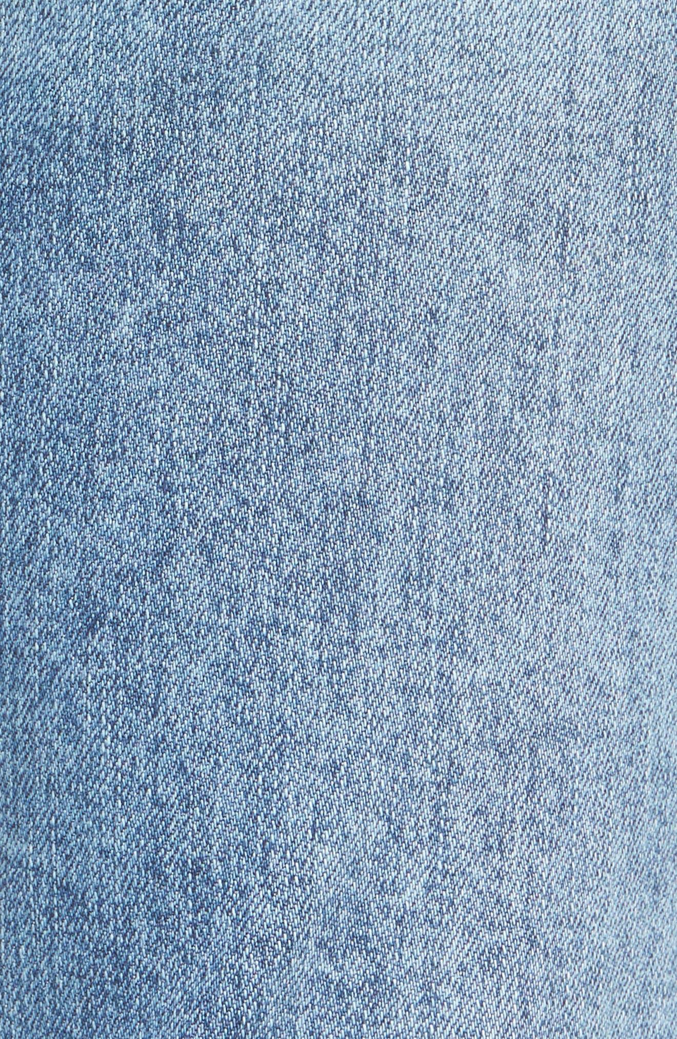 Alternate Image 5  - 7 For All Mankind® Release Hem Ankle Skinny Jeans (Rockaway Beach)