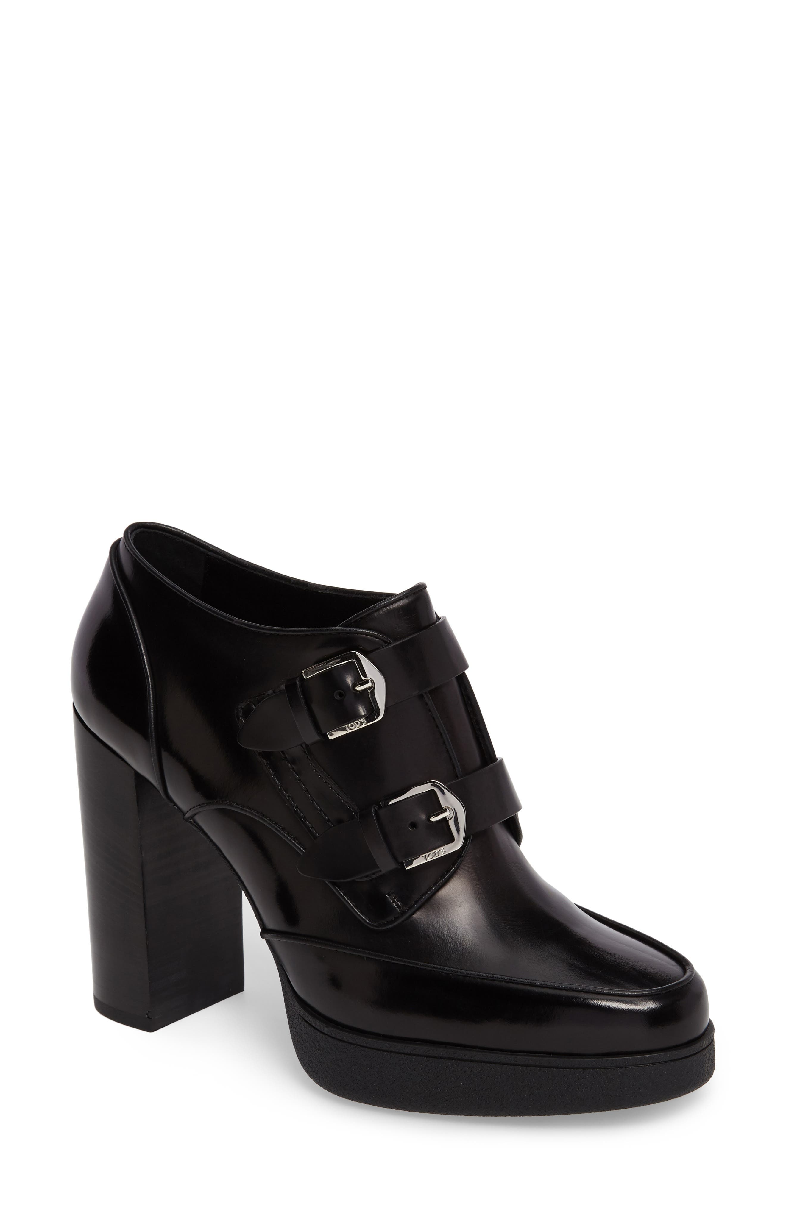 TODS Penny Double Monk Platform Pump