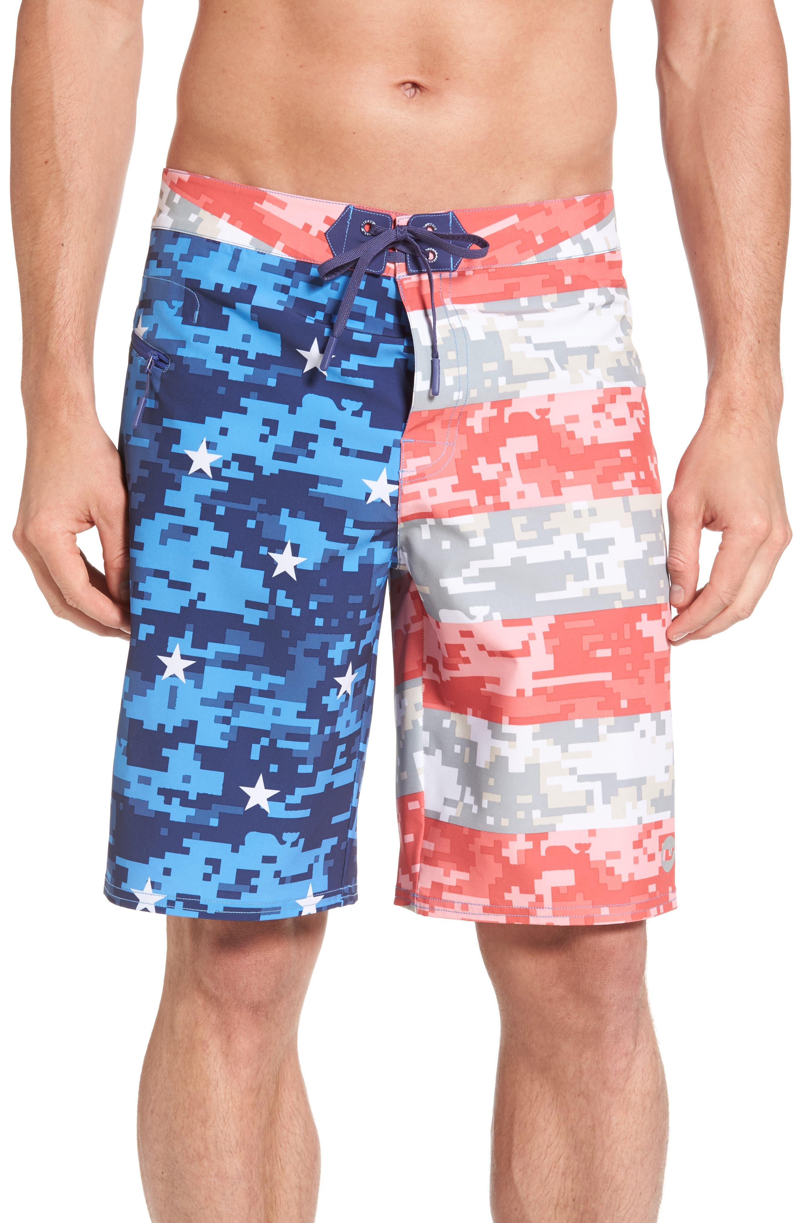 Vineyard Vines Flag Print Board Shorts