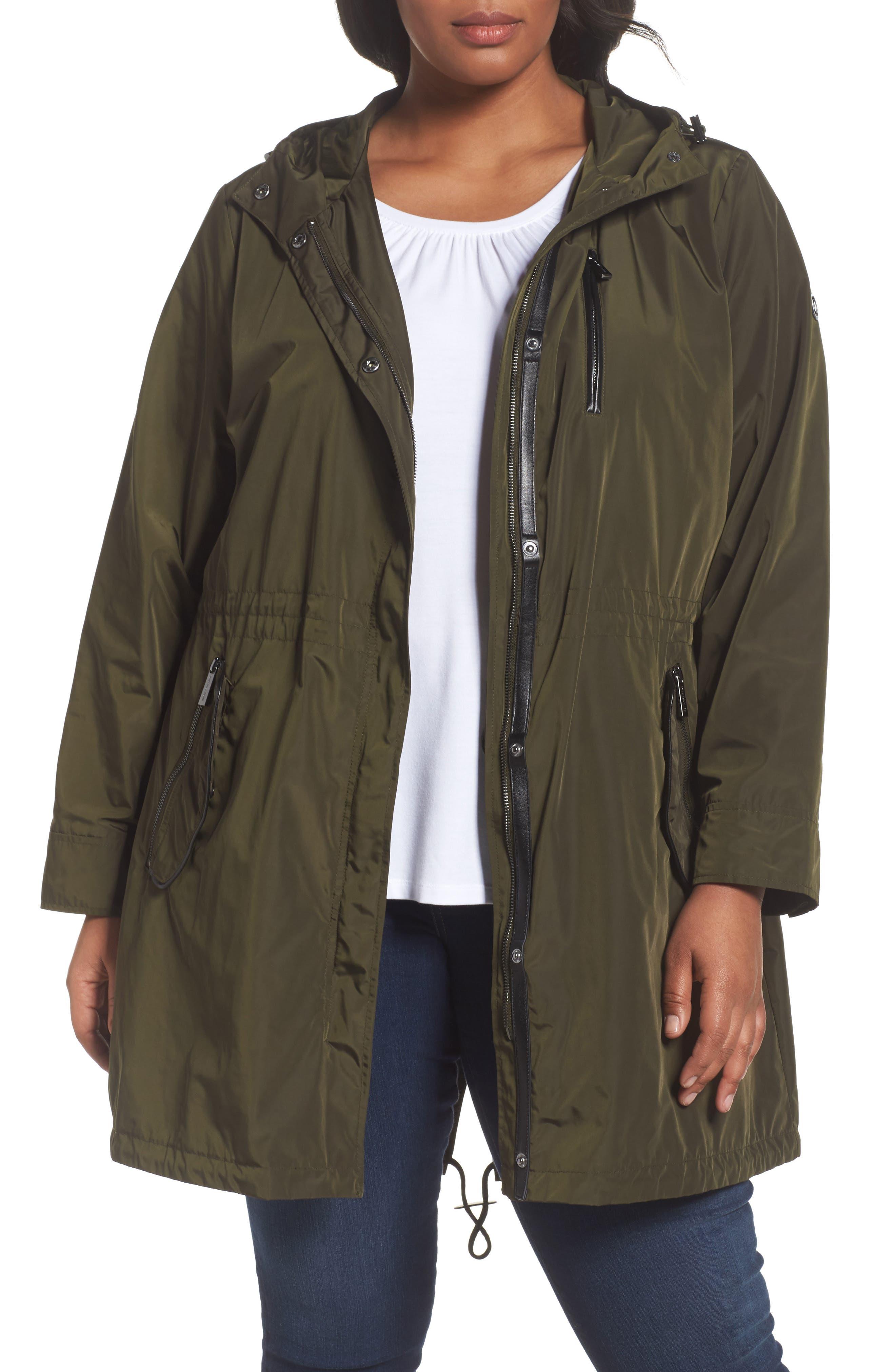 MICHAEL MICHAEL KORS Hooded Drawstring Coat