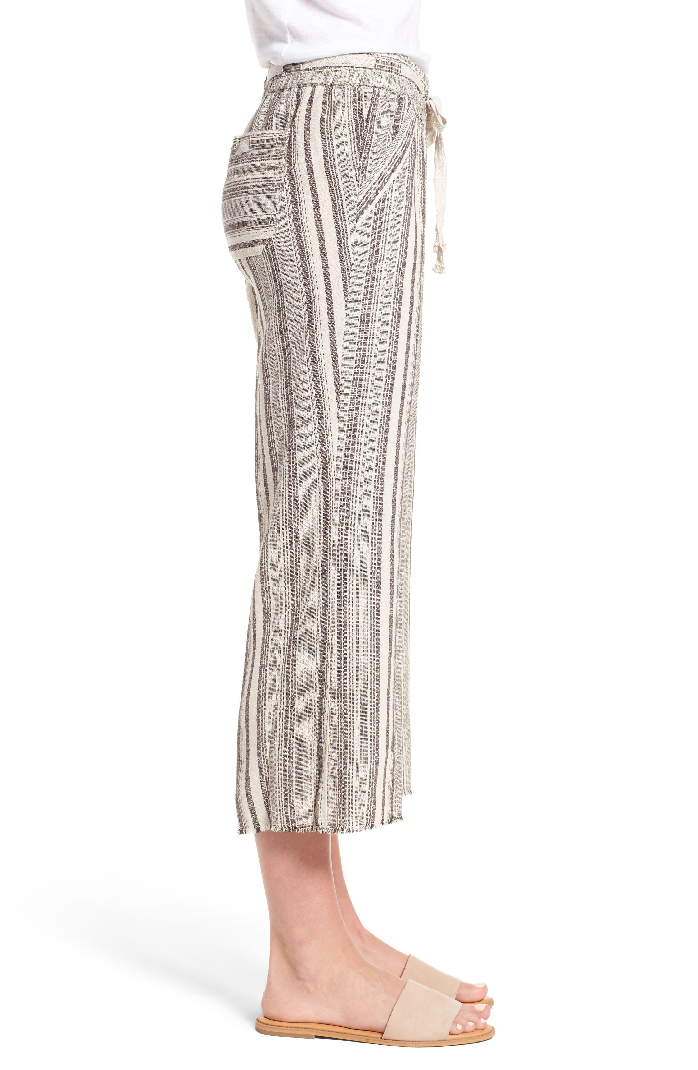 Alternate Image 3  - Wit & Wisdom Drawstring Stripe Crop Sailor Pants (Nordstrom Exclusive) (Regular & Petite)