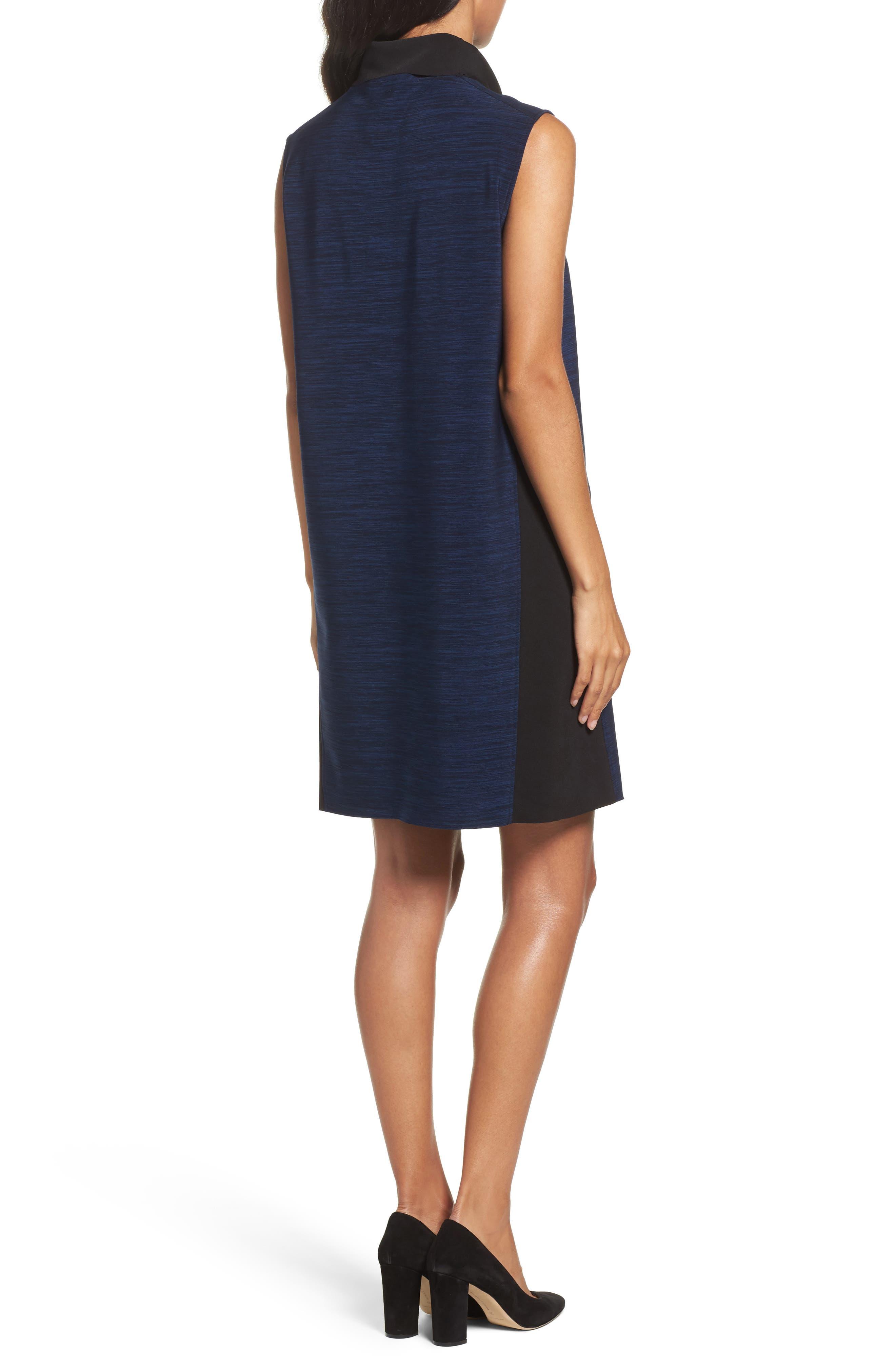 Alternate Image 2  - Tahari Turtleneck Shift Dress (Regular & Petite)